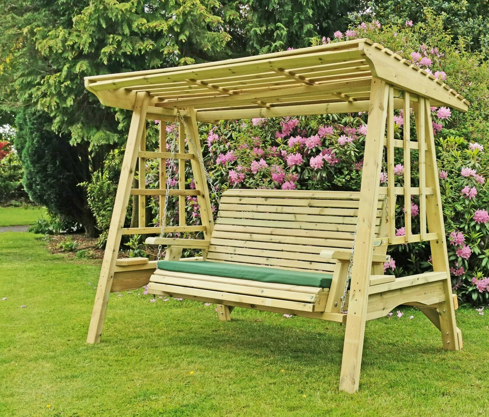 Current Wooden Garden Swing Adult Swing Seat Hammock Pressure Treated Solid Swing In 3 Seat Pergola Swings (View 17 of 30)