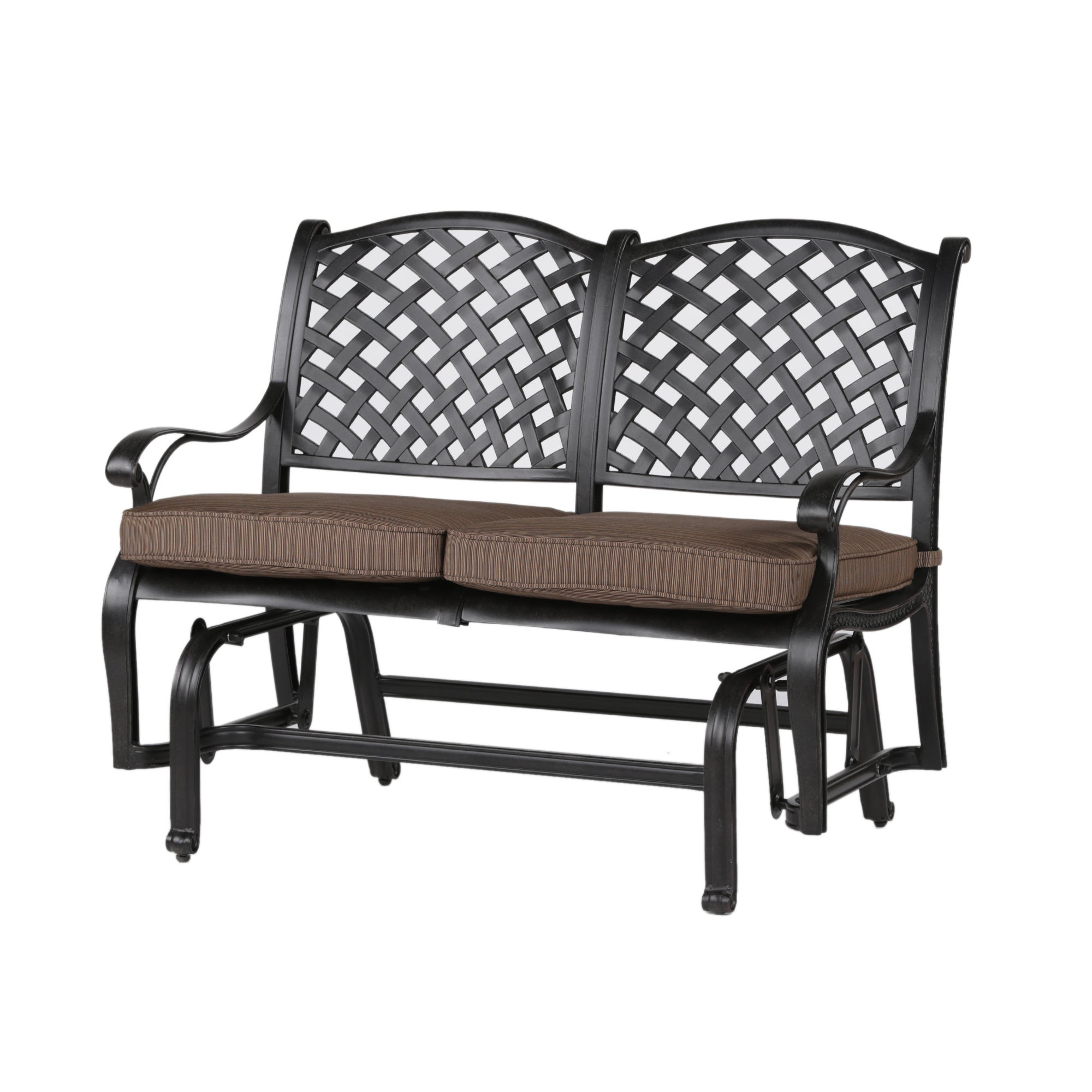Cushioned Glider Benches With Cushions With Current South Ponto Aluminum Bench Glider With Cushion (Gallery 9 of 30)