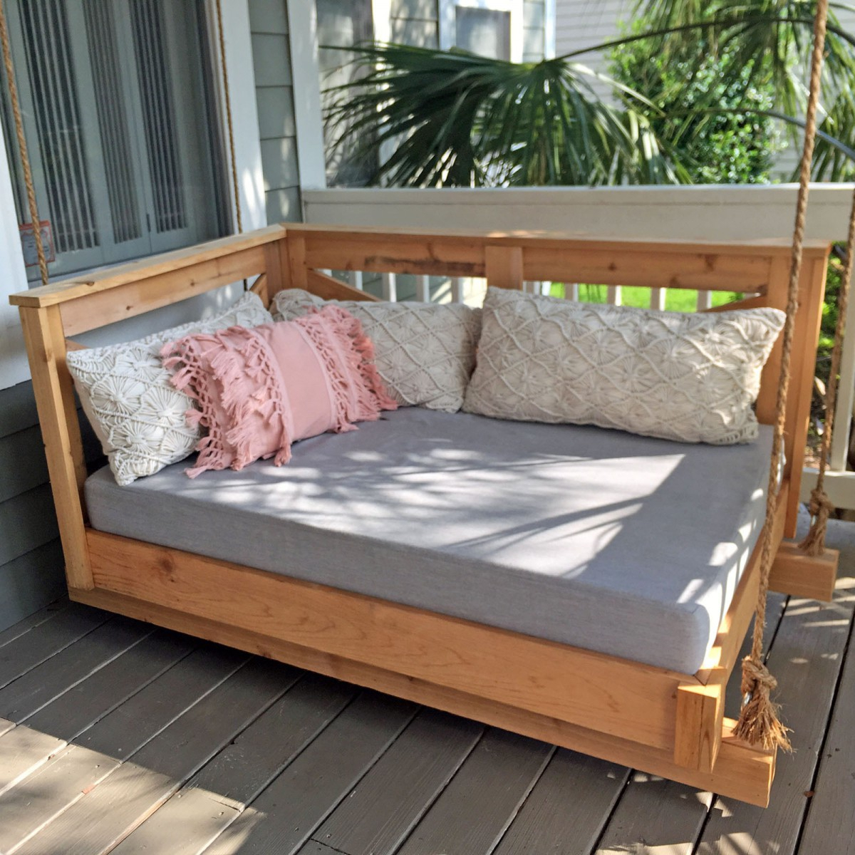 Custom Outdoor Daybed Cushions – Outdoor Fabric Central Within Well Liked Deluxe Cushion Sunbrella Porch Swings (View 26 of 30)