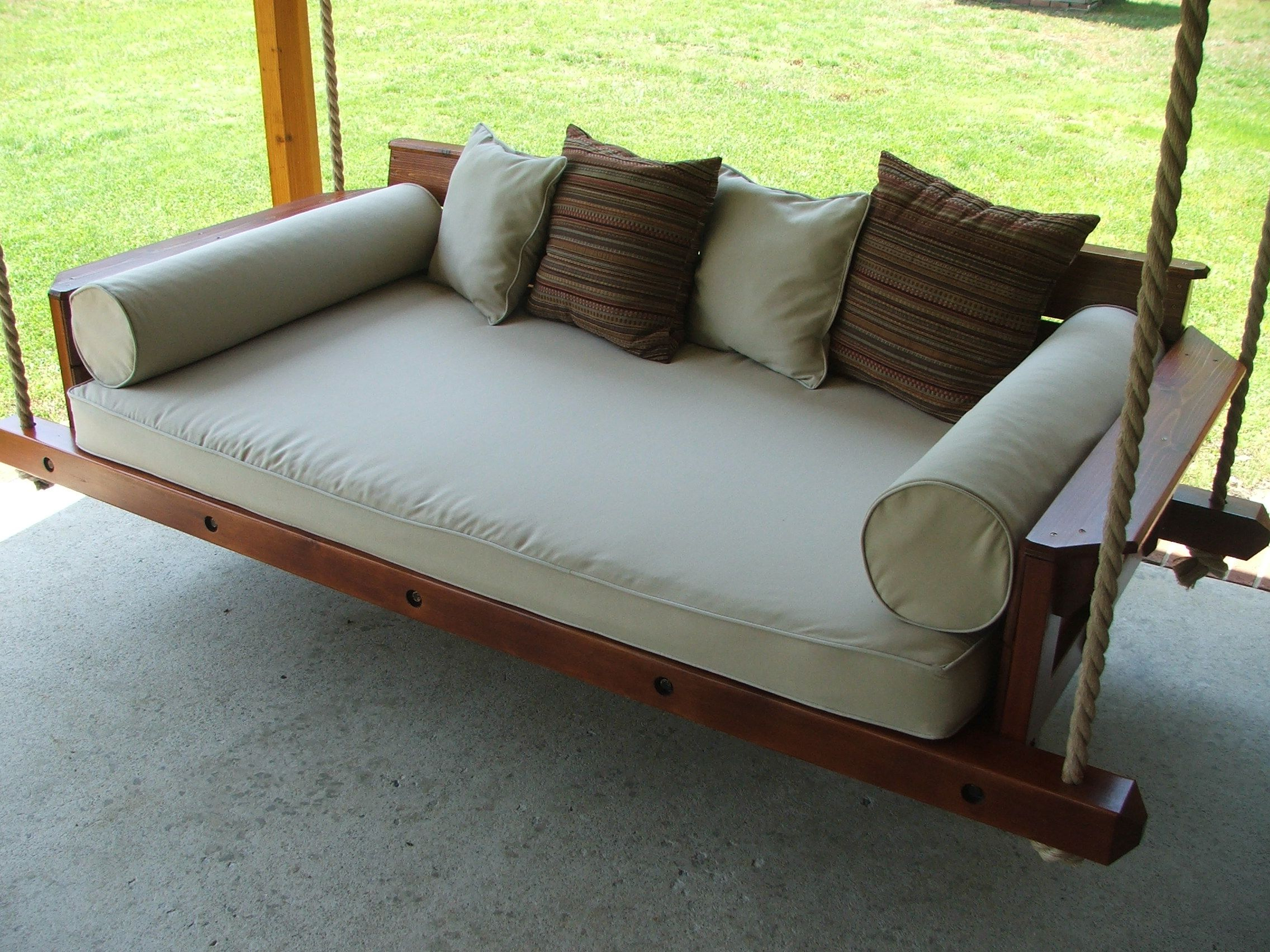 Custom Rustic Porch Bed Swingcarolina Porch Swings For Latest Country Style Hanging Daybed Swings (Gallery 9 of 30)