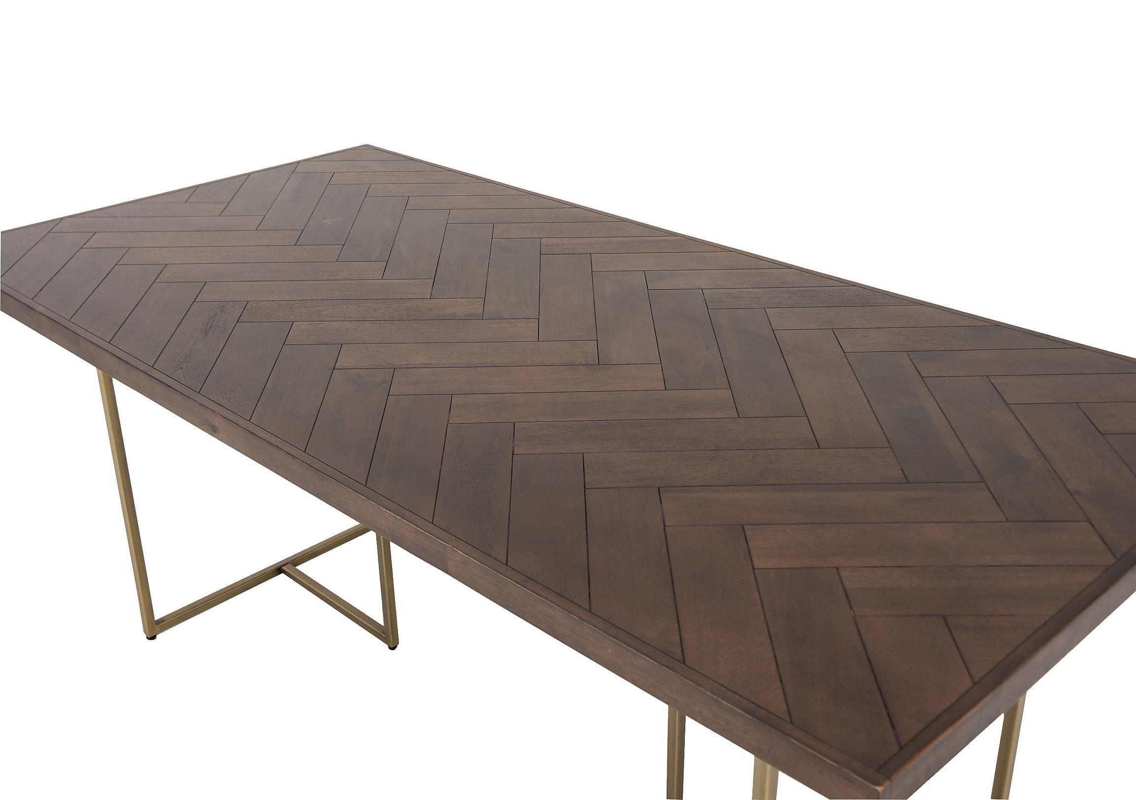 Dark Wood, Metal Dining Table, Diy (View 2 of 30)
