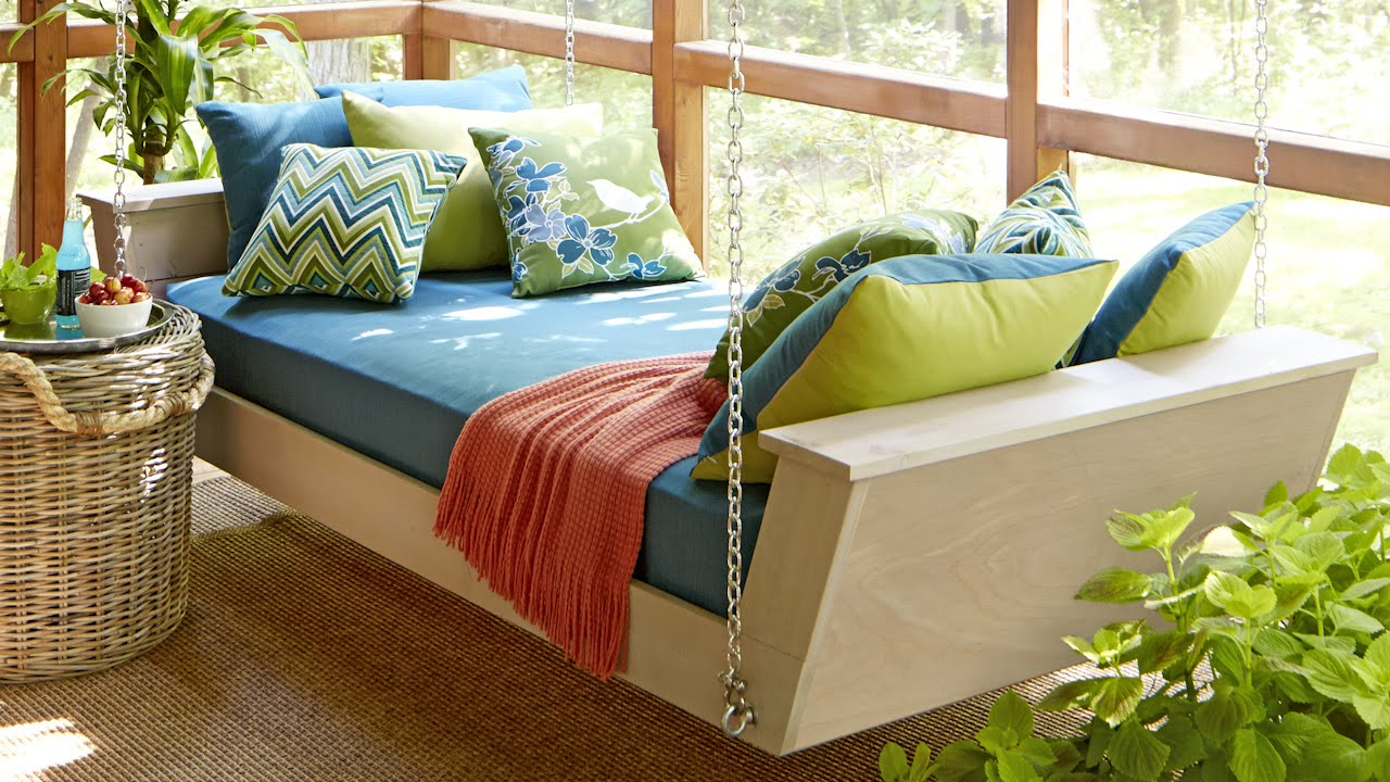 Day Bed Porch Swings Throughout Most Popular Brilliant Hanging Bed Swing Daybed Plan You Tube Diy With (View 17 of 30)