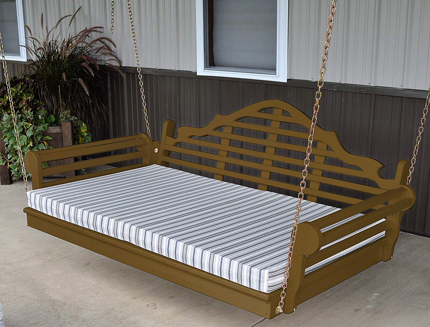 Day Bed Porch Swings Throughout Most Up To Date Amazon : Aspen Tree Interiors 6' Porch Swing Bed (View 28 of 30)