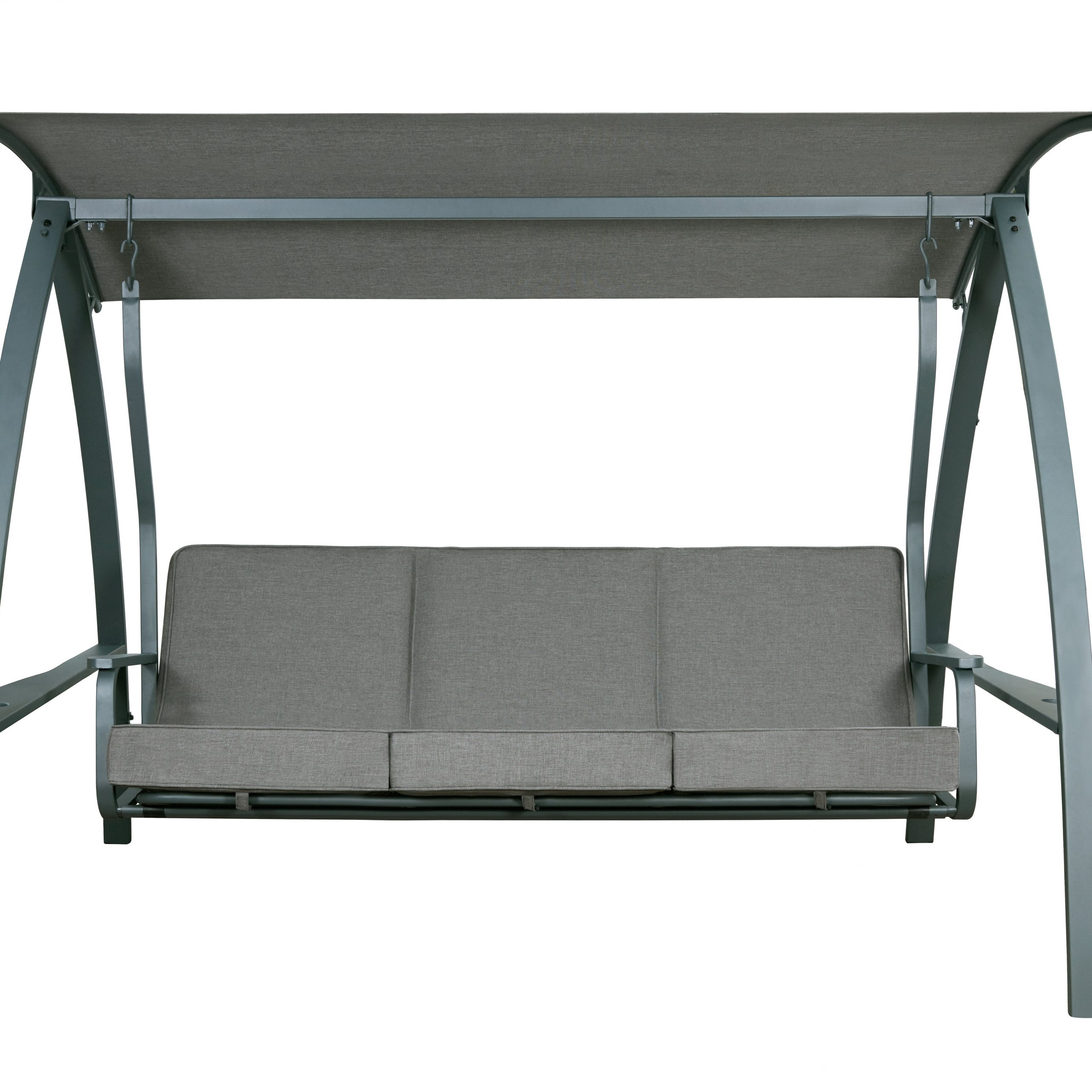 Daybed Porch Swings With Stand Regarding Well Liked Marquette 3 Seat Daybed Porch Swing With Stand (View 8 of 30)