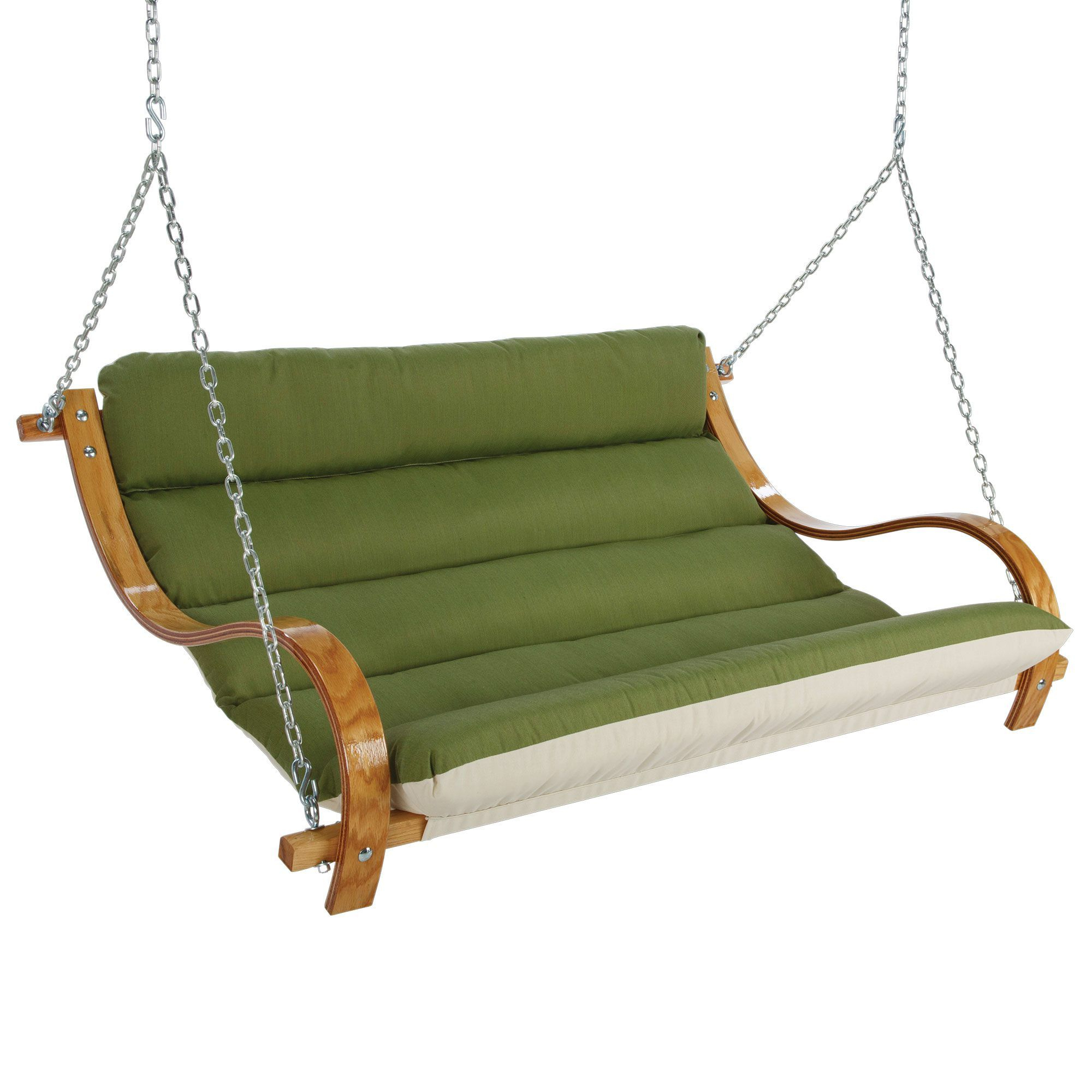 Deluxe Cushion Sunbrella Porch Swings Intended For Famous Deluxe Cushioned Double Swing Made With Sunbrella – Spectrum (View 3 of 30)