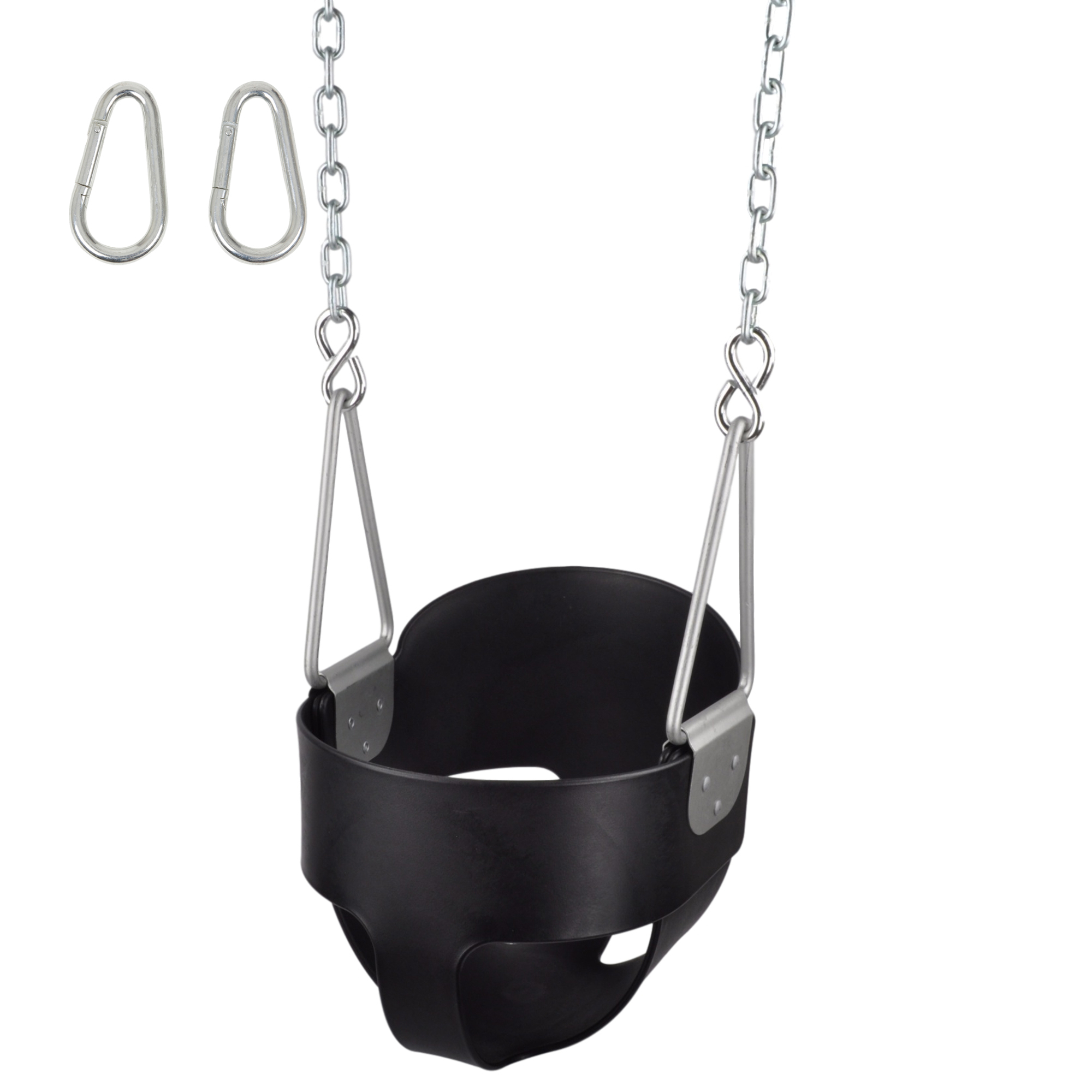 Details About Highback Full Bucket Swing Seat With Chains And Hooks Inside Current Swing Seats With Chains (View 5 of 30)