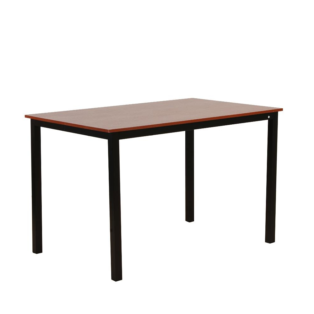 Details About Modern Wood Dining Table With Metal Legs 2 Benches Set For 4 Patio Kitchen Room Intended For Well Liked Iron Wood Dining Tables With Metal Legs (View 15 of 30)