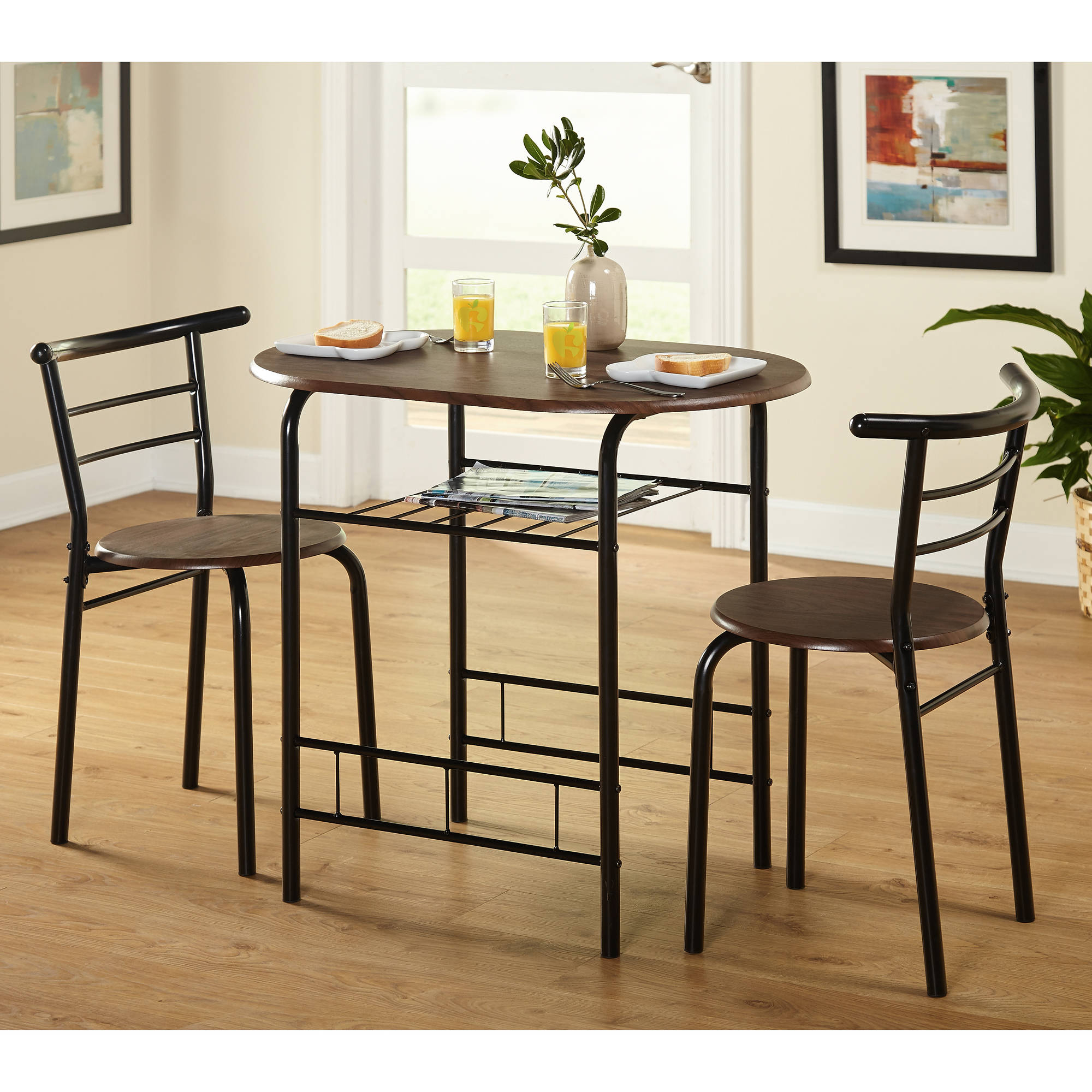 Details About Tms 3 Piece Bistro Dining Set Inside Most Current 3 Pieces Dining Tables And Chair Set (View 3 of 30)