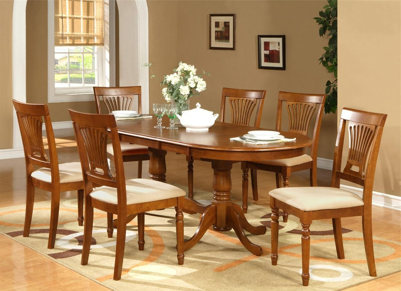 Dining Room Elegant Oval Table And Chairs With 6 Parsons Within Most Popular Contemporary 6 Seating Rectangular Dining Tables (View 4 of 30)