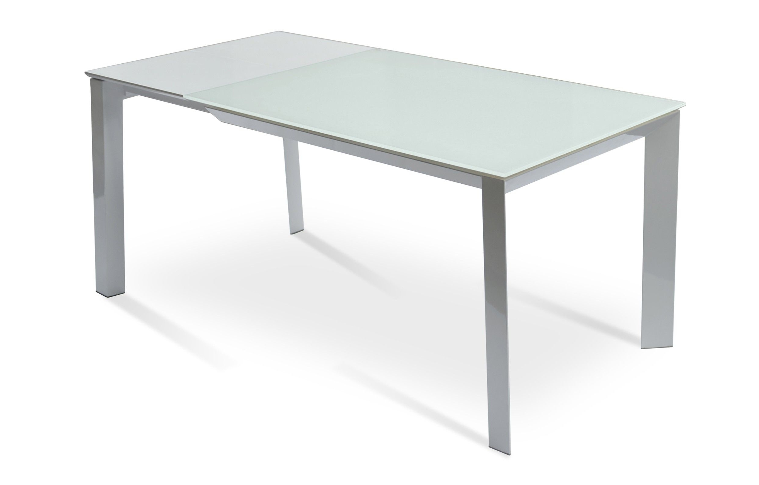 Dining Table, Glass With Latest Modern Glass Top Extension Dining Tables In Stainless (View 9 of 30)