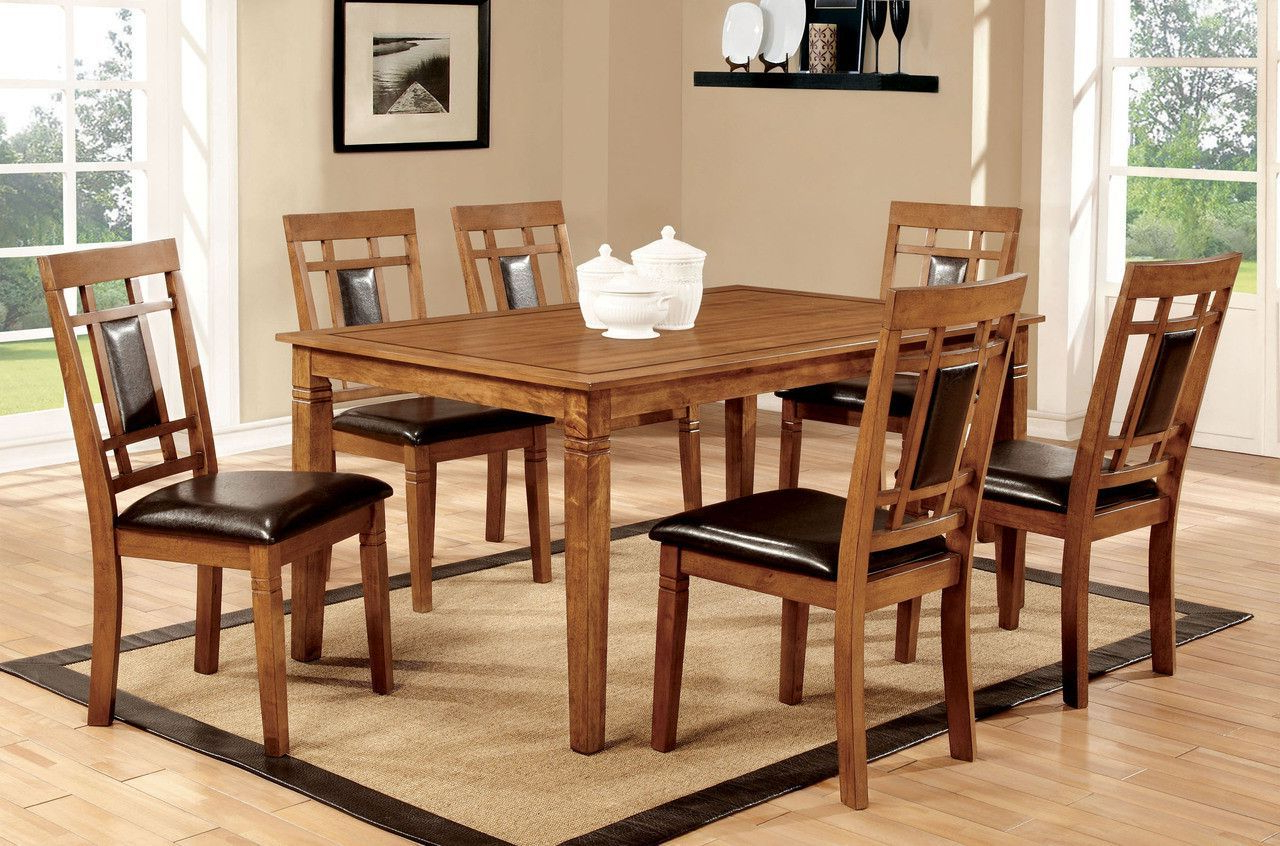 Dining Table With 6 Chairs 7 Pc (View 7 of 30)