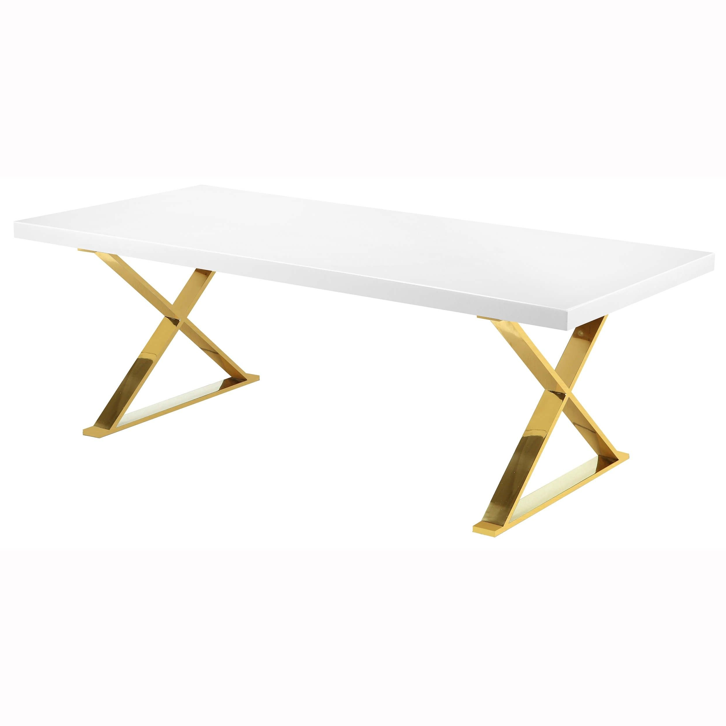Dining Tables In Seared Oak With Brass Detail In Most Up To Date Alexa Dining Table, White/polished Gold Base (View 14 of 30)