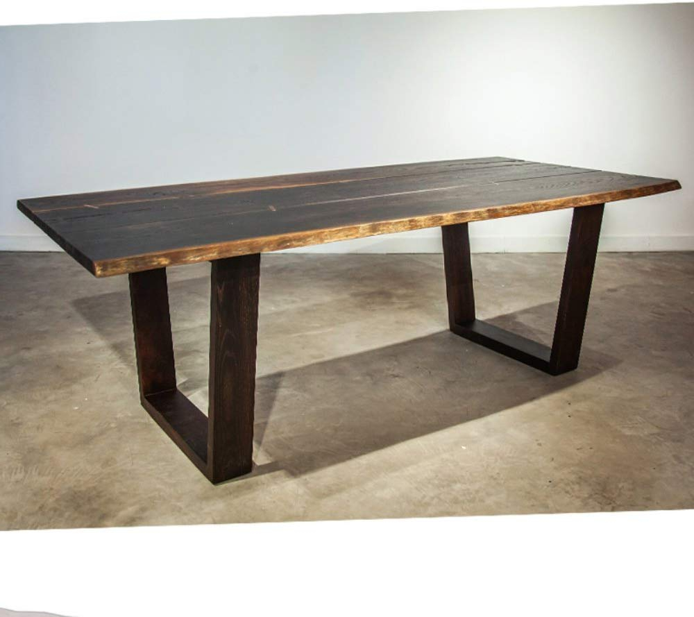 Dining Tables In Seared Oak With Brass Detail Inside Most Up To Date Amazon – Nuevo Napa (View 5 of 30)