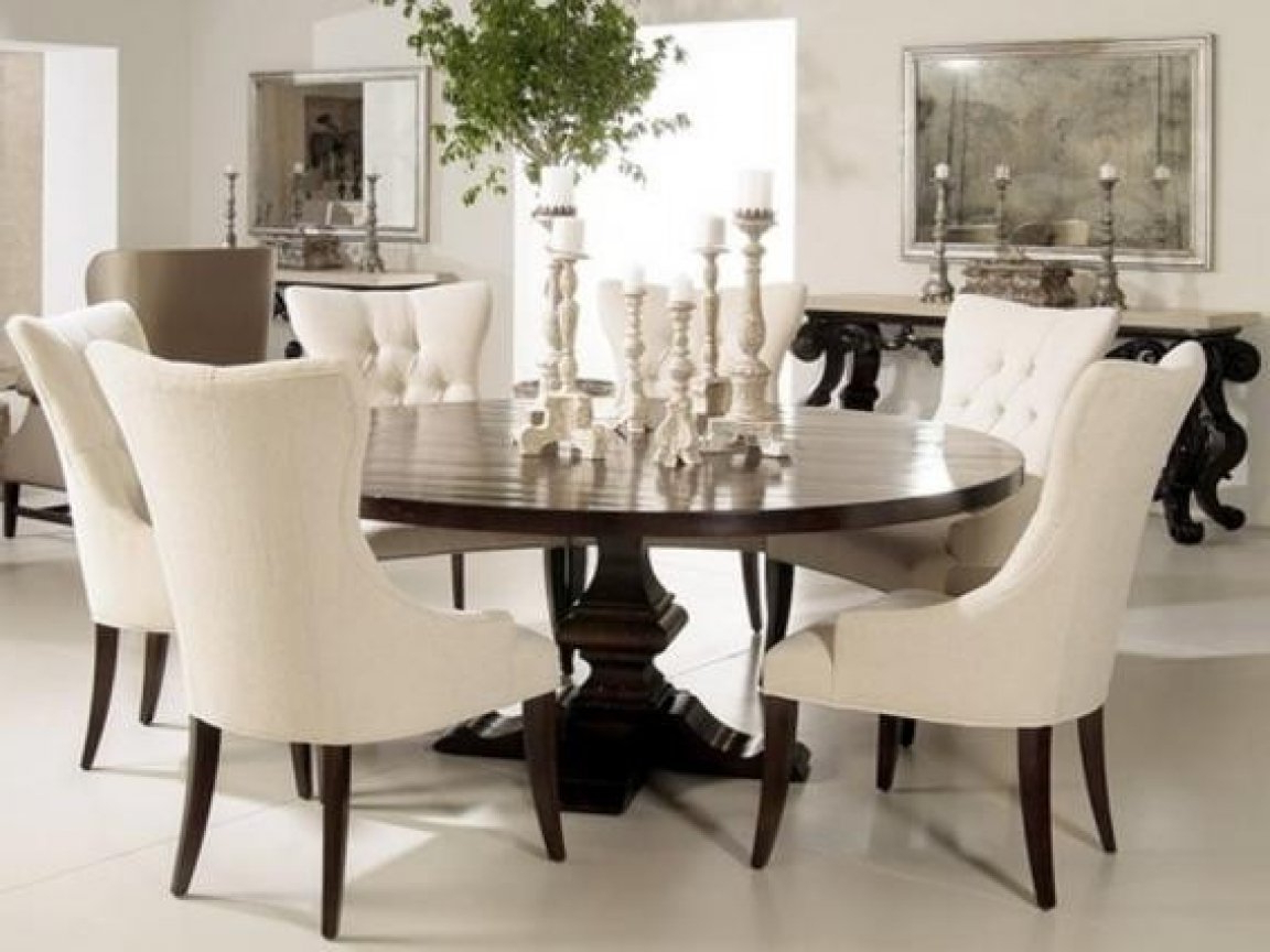 Dining Tables With Bench Elegant Round Dining Table Small Pertaining To 2018 Elegance Large Round Dining Tables (View 8 of 30)