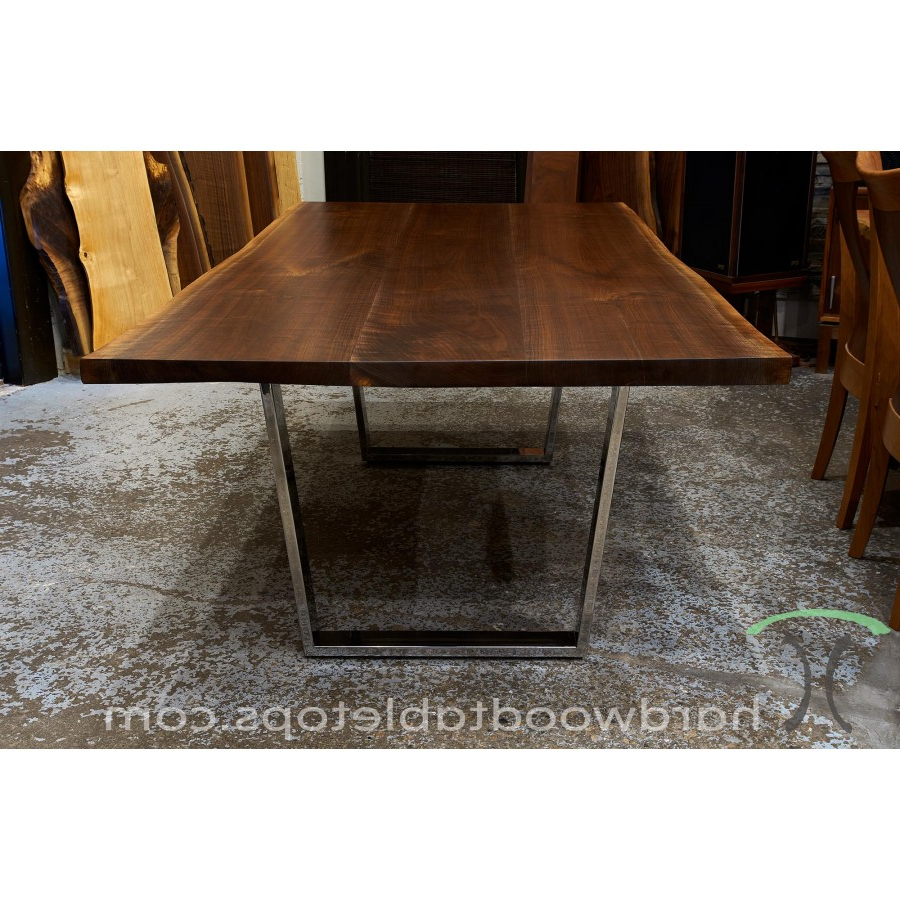 Dining Tables With Black U Legs Inside Most Recent Live Edge Black Walnut Dining Table Configurator (View 8 of 30)