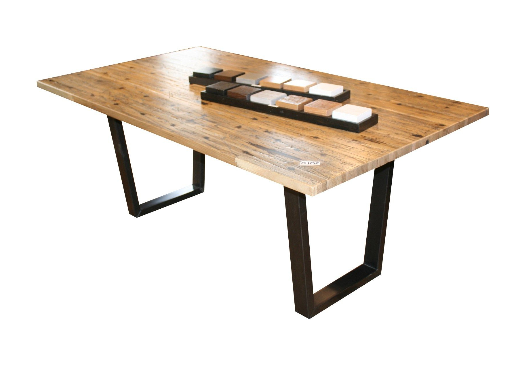 Dining Tables With Black U Legs Throughout Most Up To Date Maple Semi Truck U Leg Dining Table This Dining Table (View 12 of 30)