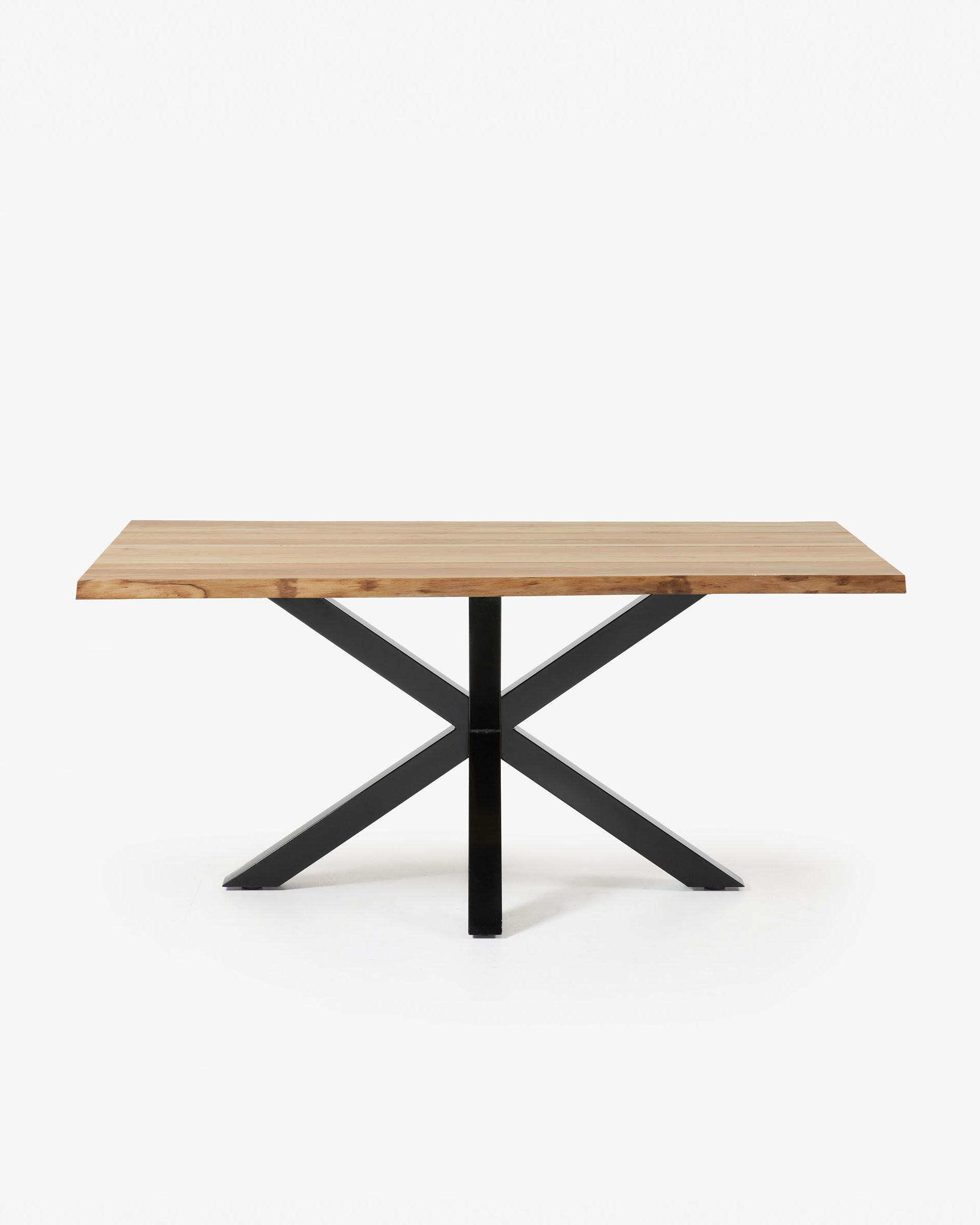 Dining Tables With Black U Legs Throughout Newest Argo Table 180 Cm Natural Oak Black Legs (View 13 of 30)