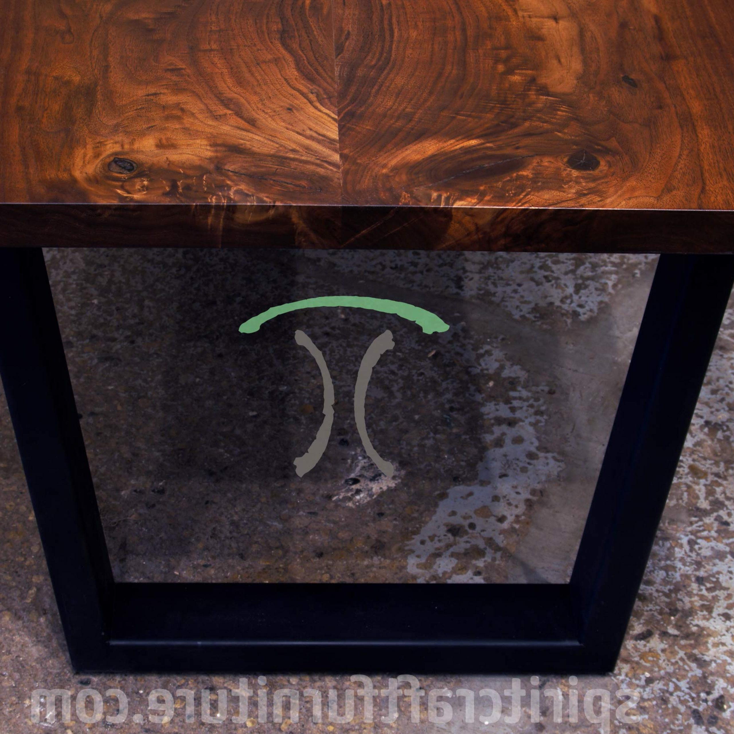 Dining Tables With Black U Legs With Well Known Live Edge Slab Dining Tables, Walnut Slabs And Tops (View 15 of 30)