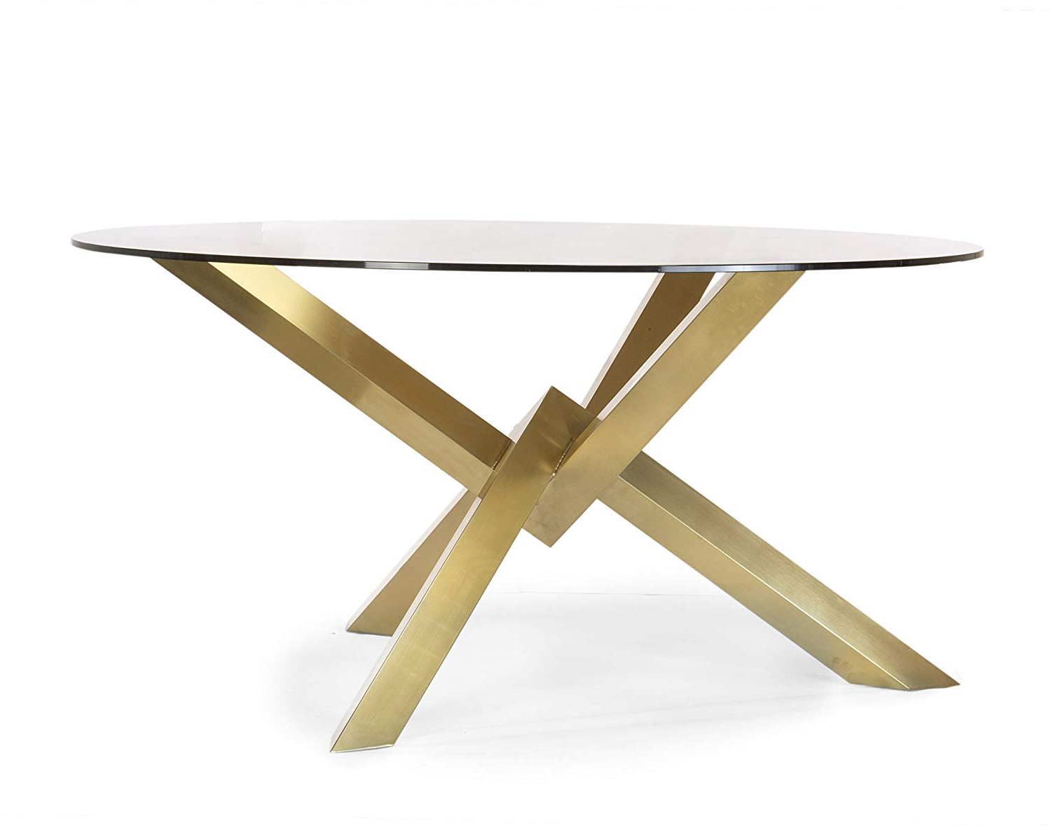 Dining Tables With Brushed Gold Stainless Finish With Current Amazon – Design Tree Home Couture Brushed Gold Dining (View 3 of 30)