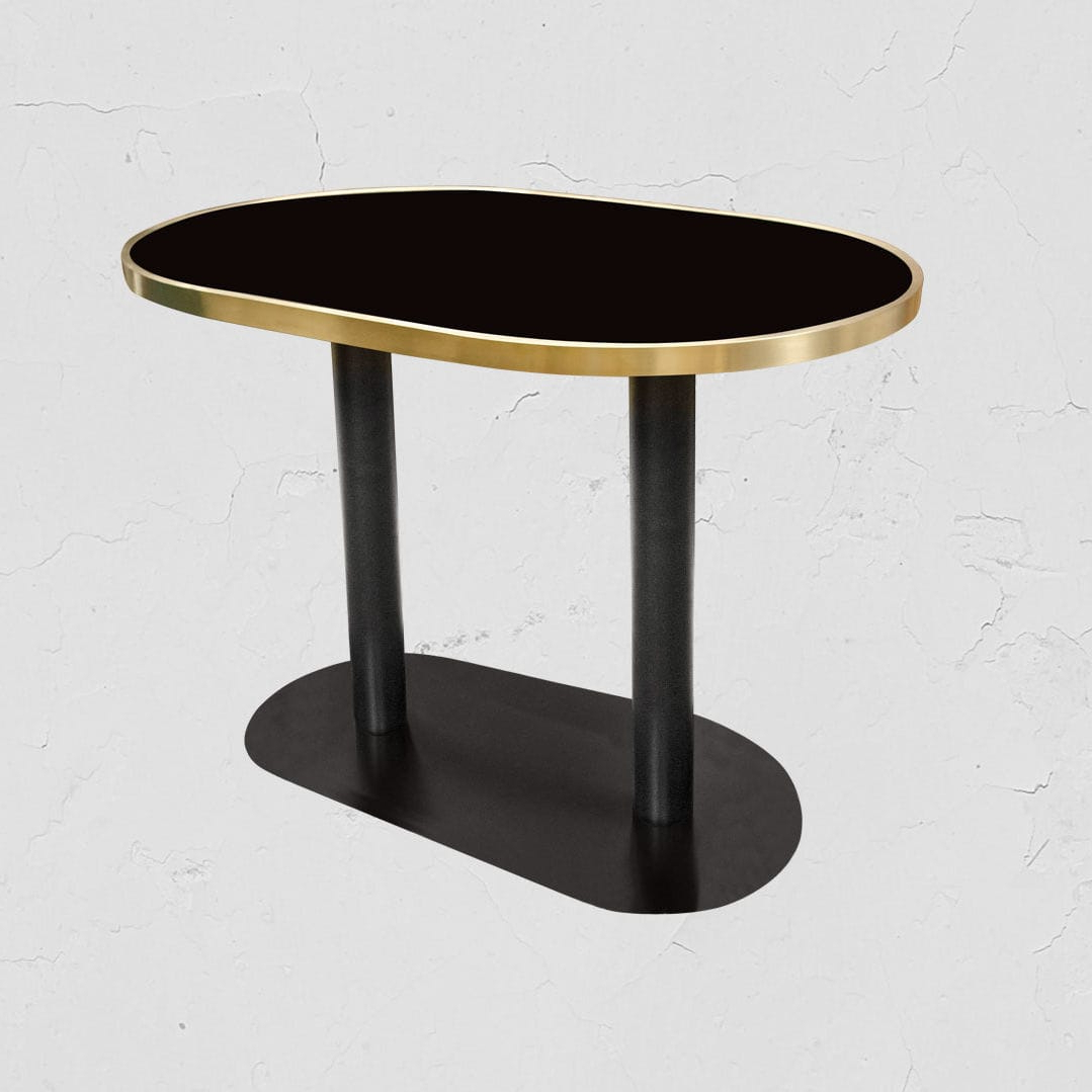 Dining Tables With Brushed Gold Stainless Finish With Latest Contemporary Dining Table / Glass / Stainless Steel / Iron (View 25 of 30)