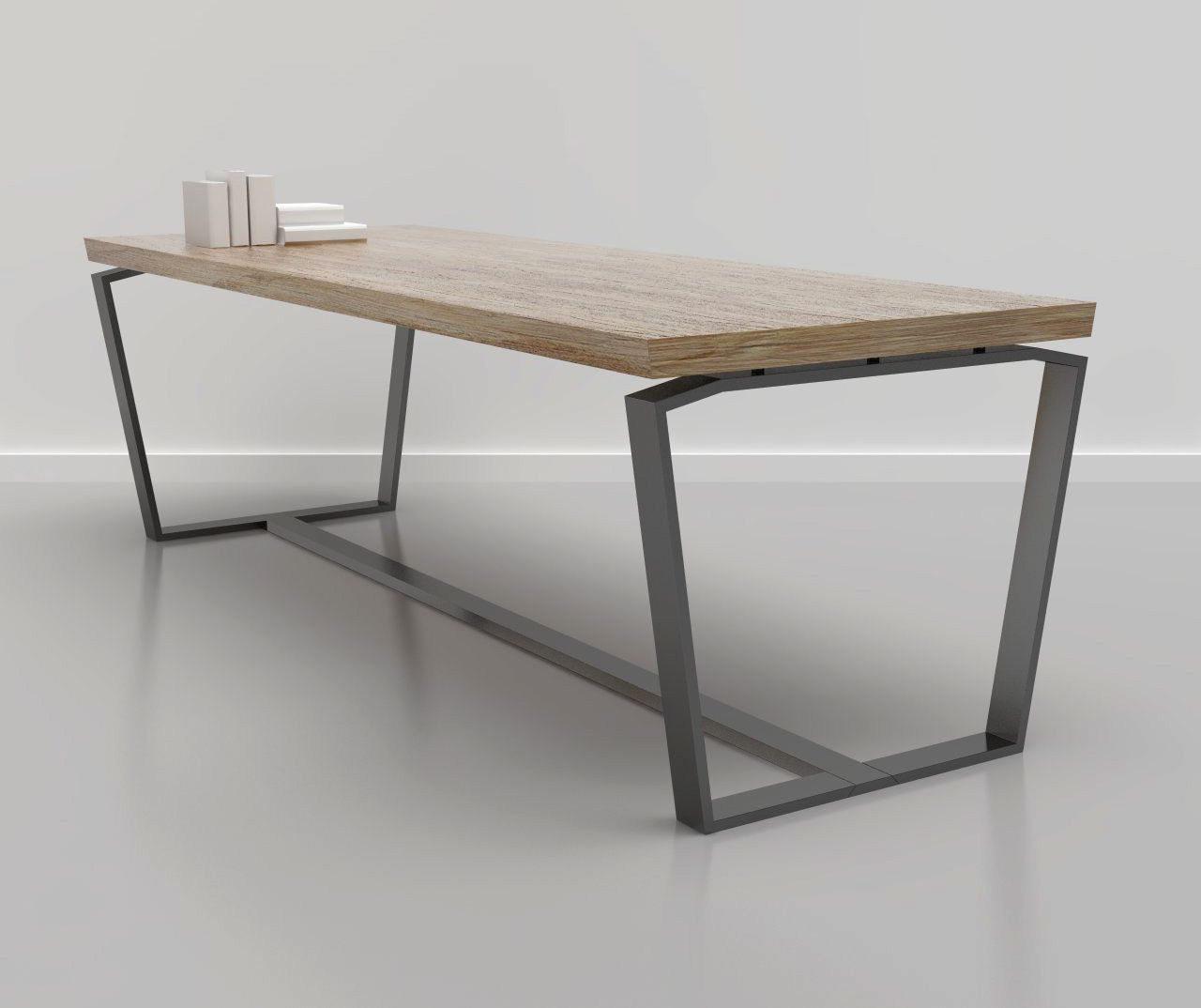 Dining Tables With Brushed Stainless Steel Frame For Latest Jason Phillips Design – Edge Dining Table (View 11 of 30)