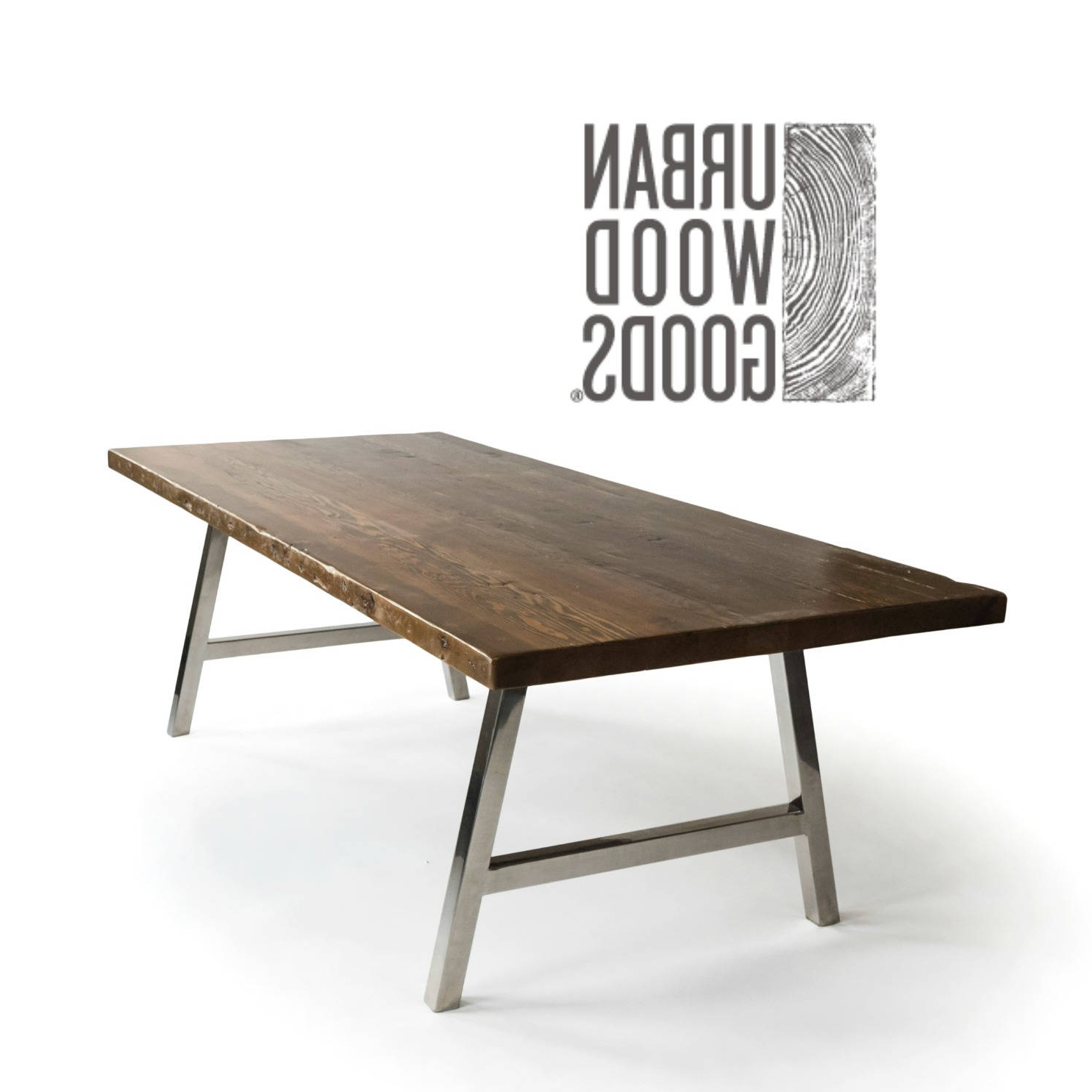 Dining Tables With Brushed Stainless Steel Frame Pertaining To Popular Modern Architect A Frame Dining Table With Brushed Stainless Steel Base, (View 14 of 30)