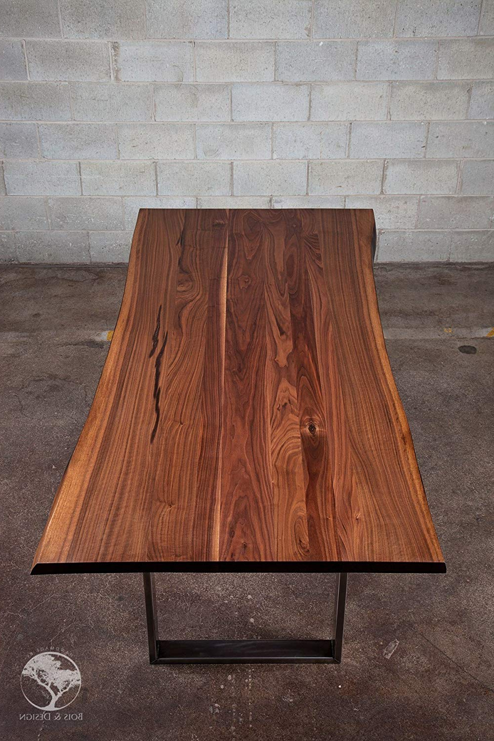 Dining Tables With Stained Ash Walnut For Most Up To Date Amazon: Black Walnut Dining Table On Steel Diverso: Handmade (View 9 of 30)
