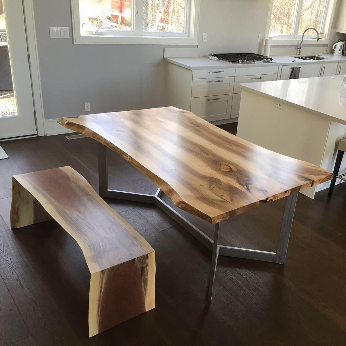 Dining Tables With Stained Ash Walnut Within Most Recently Released English Walnut Dining Table With Matching Bench (View 13 of 30)