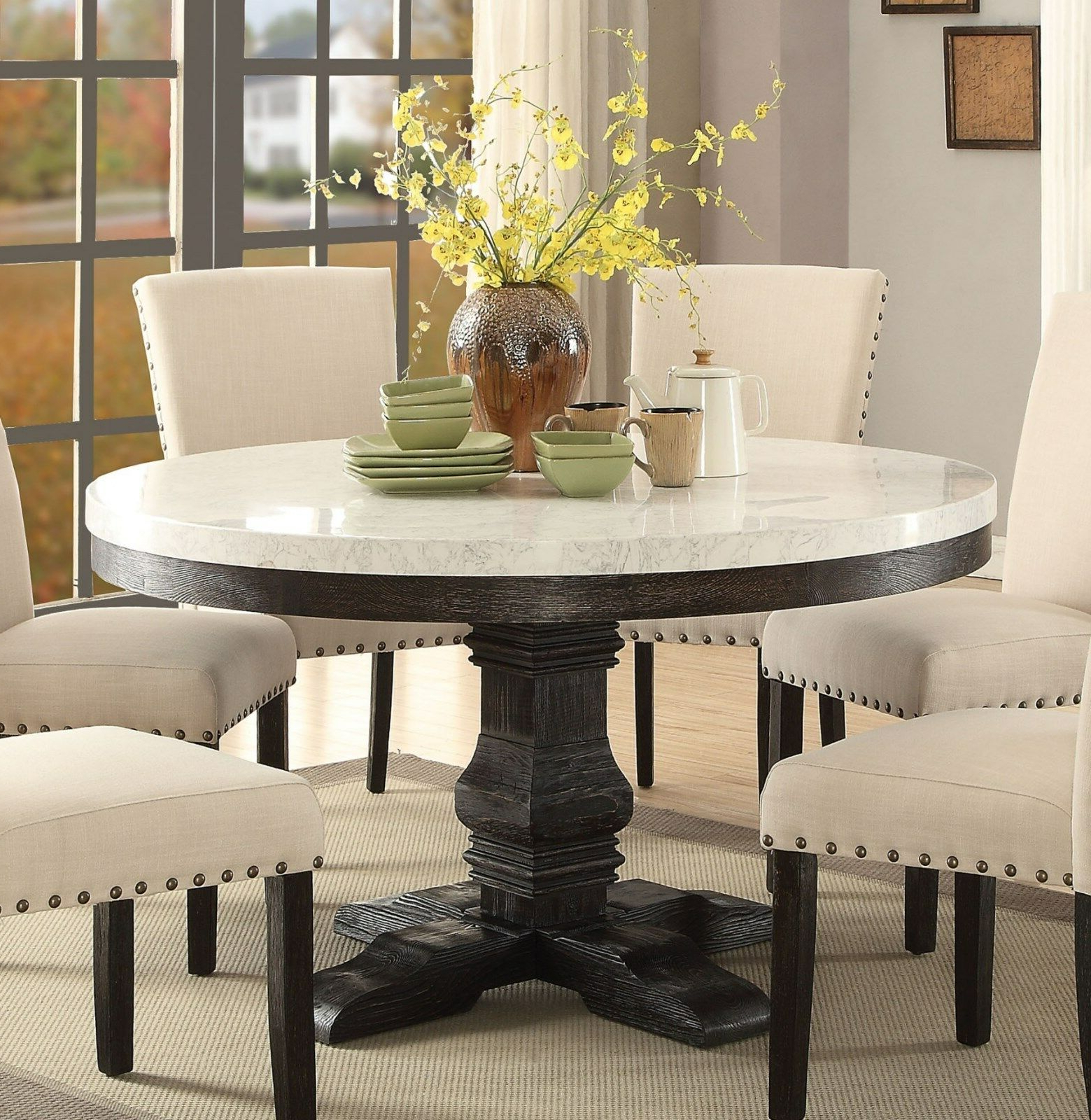 Featured Photo of Dining Tables With White Marble Top