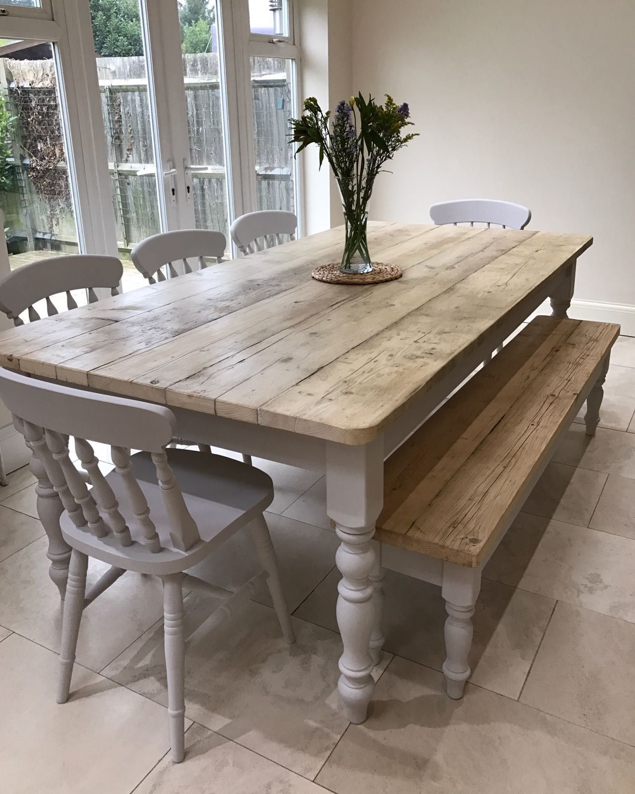 Distressed Grey Finish Wood Classic Design Dining Tables For Favorite The Florence Clear' Table Made From Reclaimed Wood (View 8 of 30)