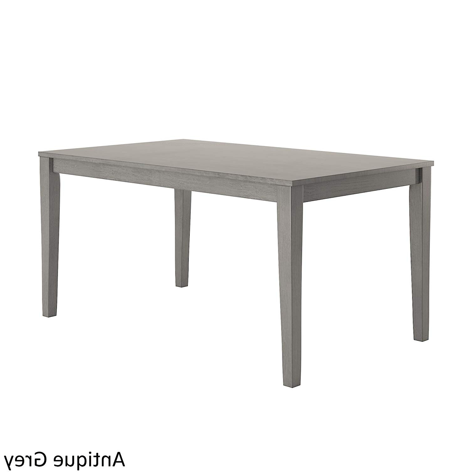 Distressed Grey Finish Wood Classic Design Dining Tables With Regard To Best And Newest Amazon – 60 Inch Rectangular Dining Table, Includes (View 5 of 30)