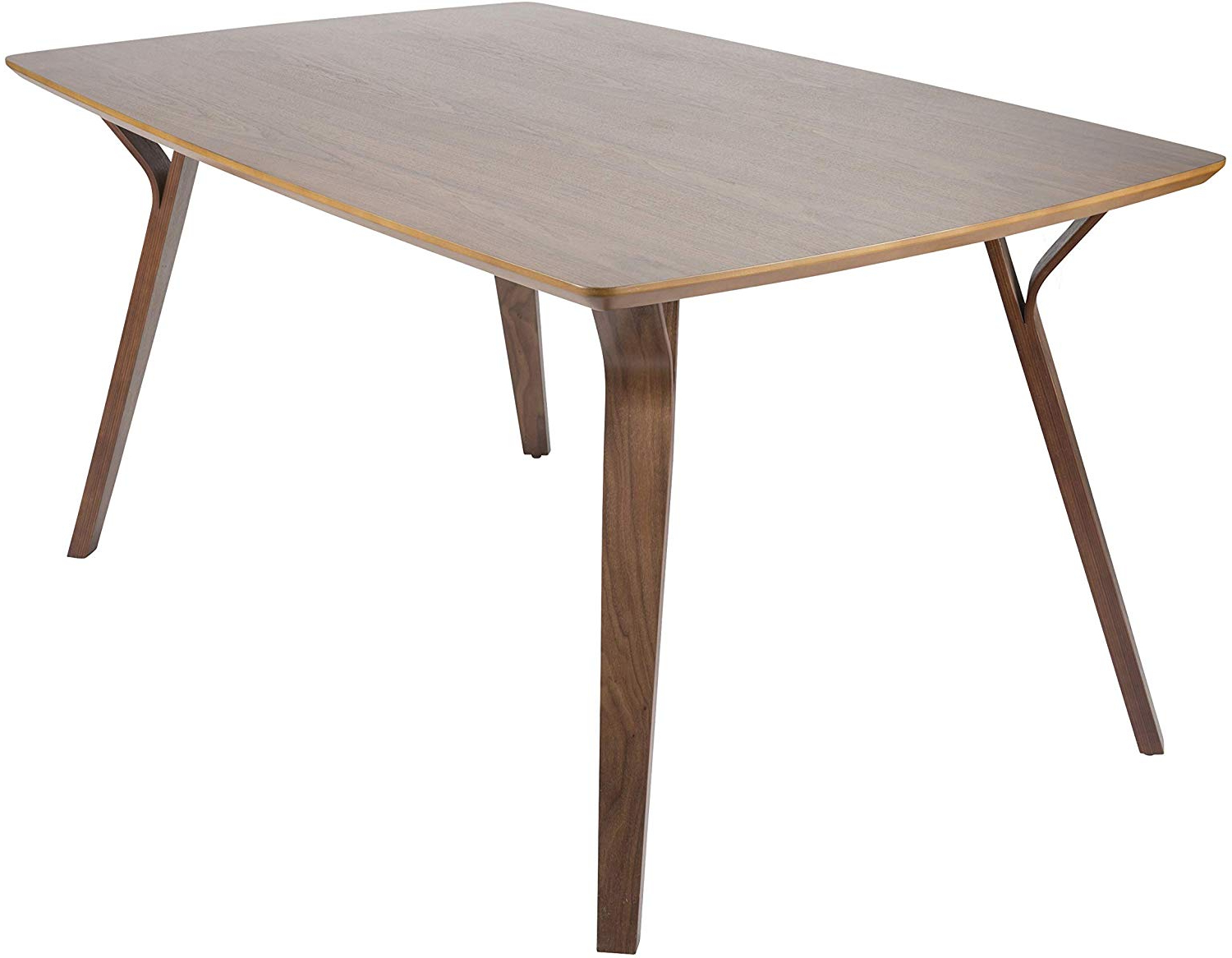 Distressed Walnut And Black Finish Wood Modern Country Dining Tables Pertaining To Recent Amazon – Lumisource Mid Century Modern Dining Table In (View 8 of 30)