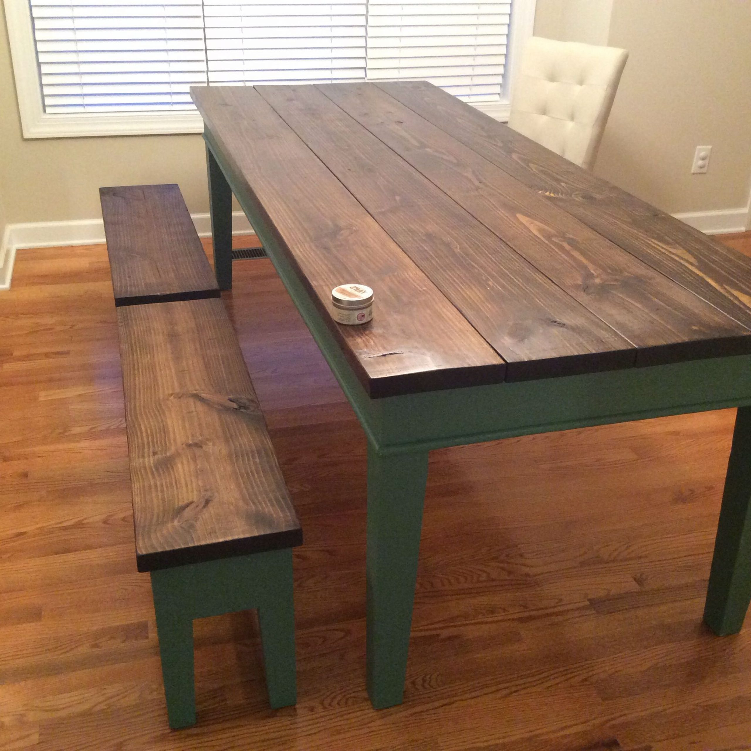 Distressed Walnut And Black Finish Wood Modern Country Dining Tables Pertaining To Widely Used Finished Farm Table (View 10 of 30)