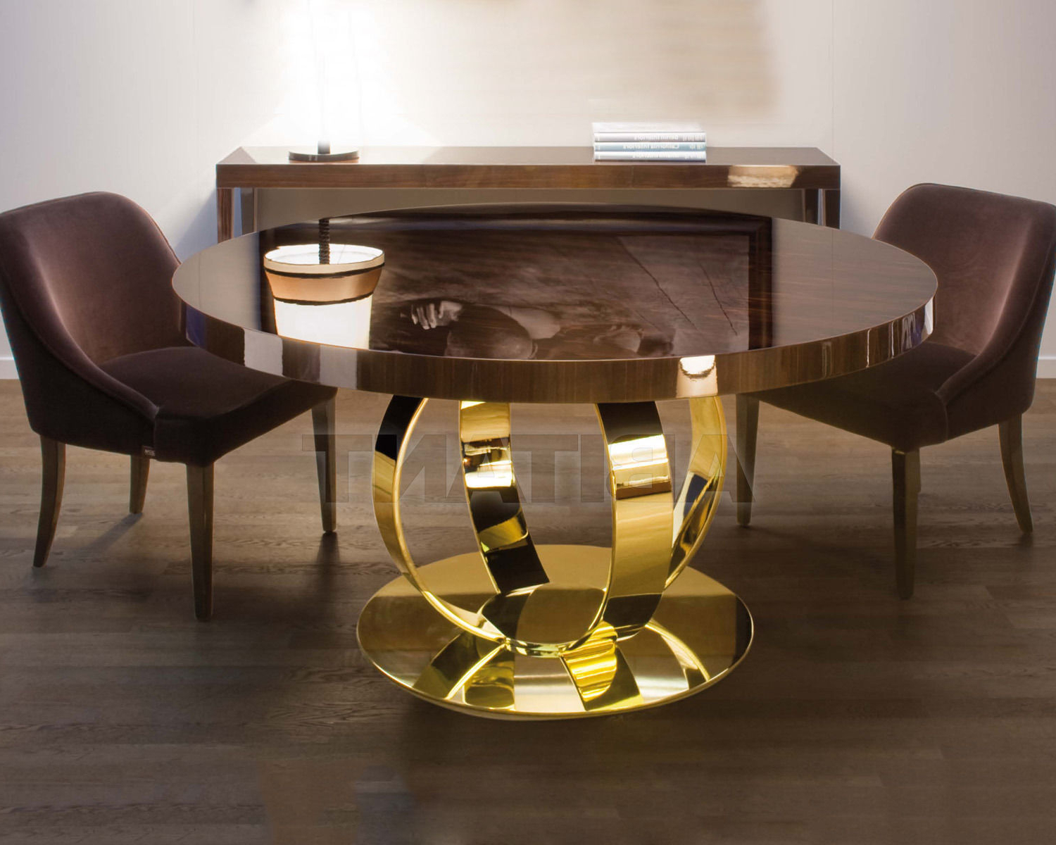 Dom Round Dining Tables For Favorite Dining Table Brown Dom Edizioni Andrew Dinner Table, : Buy (View 28 of 30)