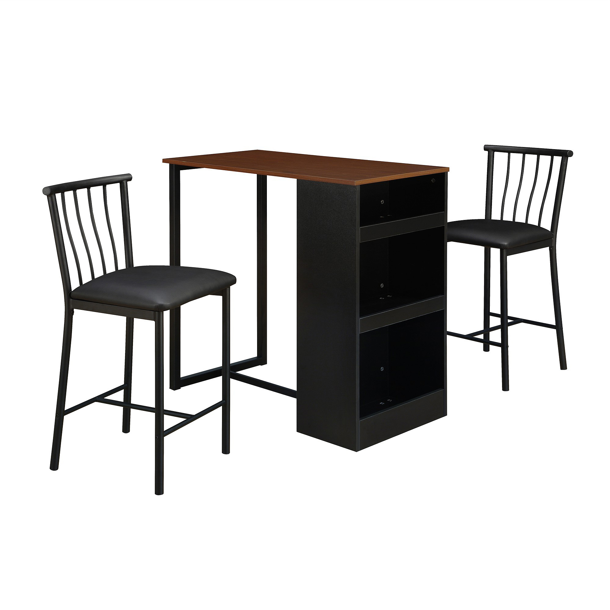 Dorel Living Isla 3 Piece Counter Height Dining Set With In Fashionable 3 Pieces Dining Tables And Chair Set (View 30 of 30)