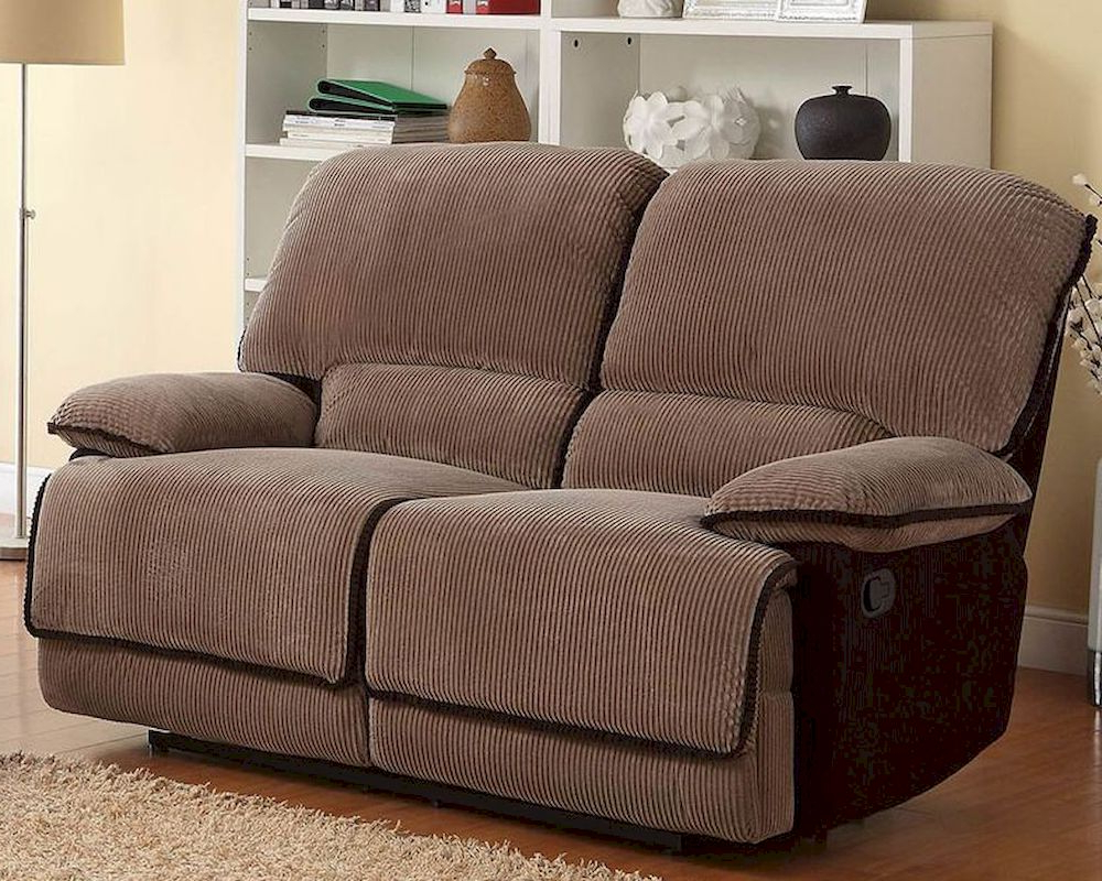 Double Glider Reclining Loveseat Granthamhomelegance El With Best And Newest Double Glider Loveseats (View 8 of 30)