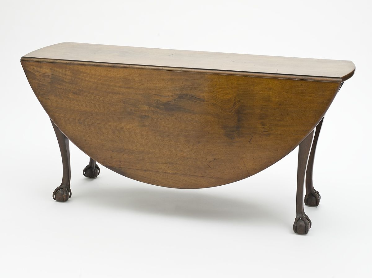 Drop Leaf Table – Wikipedia In Most Up To Date Wood Kitchen Dining Tables With Removable Center Leaf (View 8 of 30)
