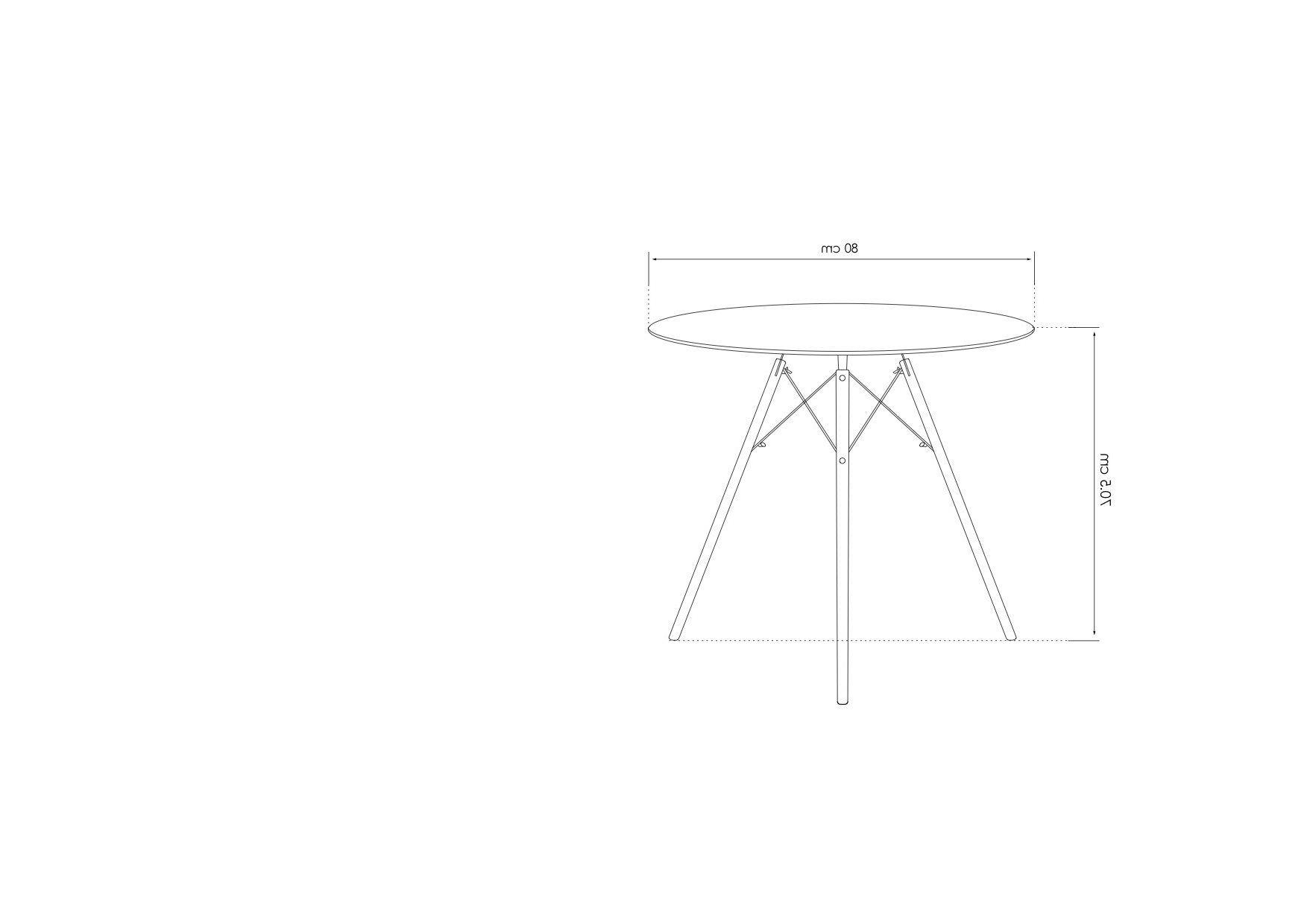 Eames Style Dining Tables With Chromed Leg And Tempered Glass Top Within 2017 Dining Tables Size: 80Cm Fusionwell Dsw Style Dining Round (View 9 of 30)