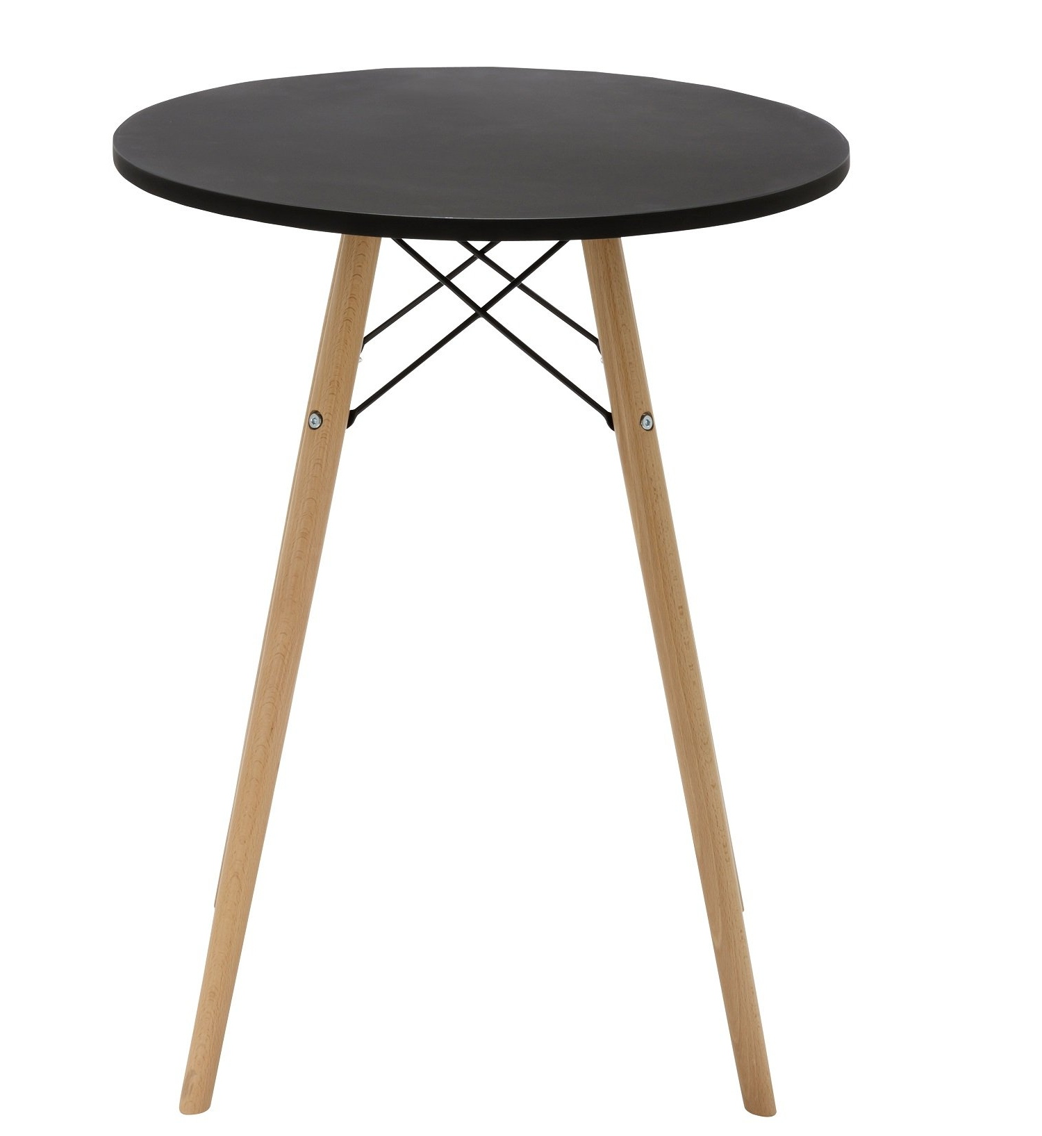 "Eames Style Dining Tables With Wooden Legs Pertaining To Well Known Duhome 24"" Round Dining Table Mdf Top Wooden Leg Stylish (View 10 of 30)"