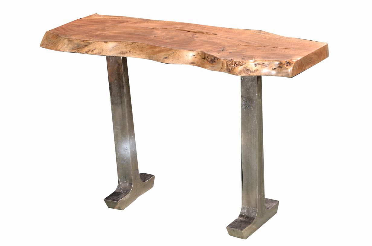 Earth Tables – Design Source Guide With Regard To Well Known Acacia Wood Top Dining Tables With Iron Legs On Raw Metal (View 22 of 30)