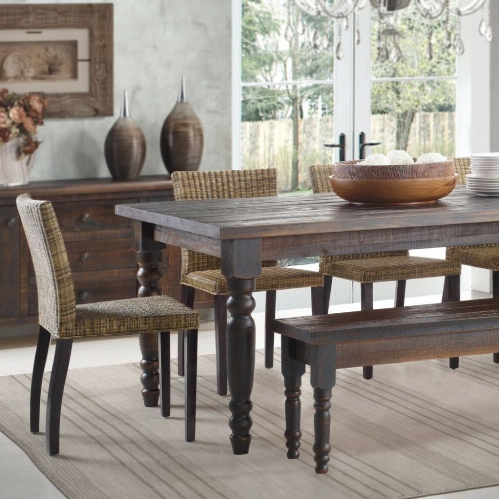 Ebay Inside Well Liked Transitional Driftwood Casual Dining Tables (View 7 of 30)