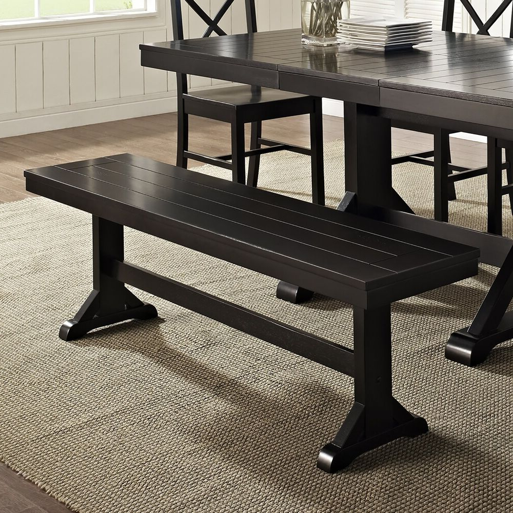 Ebay Within Popular Antique Black Wood Kitchen Dining Tables (View 21 of 30)