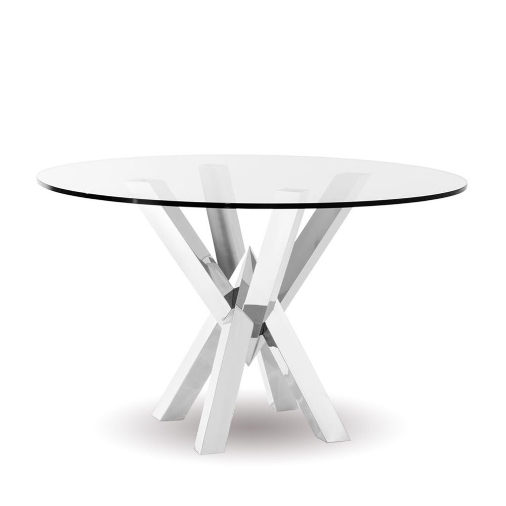 Eichholtz Triumph Dining Table Distinctive Architectural Inside Well Liked Long Dining Tables With Polished Black Stainless Steel Base (View 6 of 30)