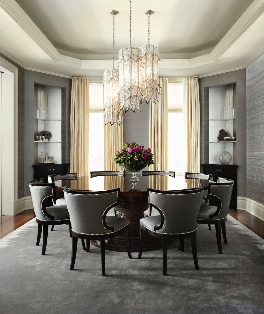 Elegance Large Round Dining Tables Intended For Latest Pinaljohara Almodaimigh On Family Room (View 11 of 30)