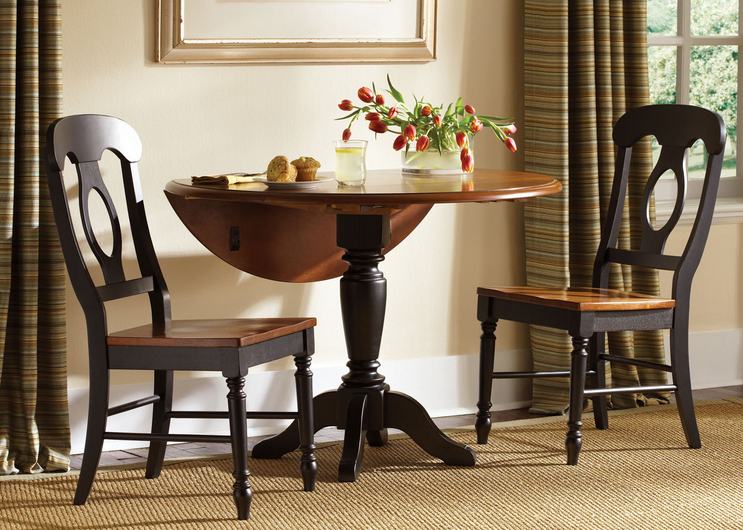 Elegance Small Round Dining Tables With Most Current Elegant Drop Leaf Kitchen Table Set Wonderful Round Dining (View 22 of 30)