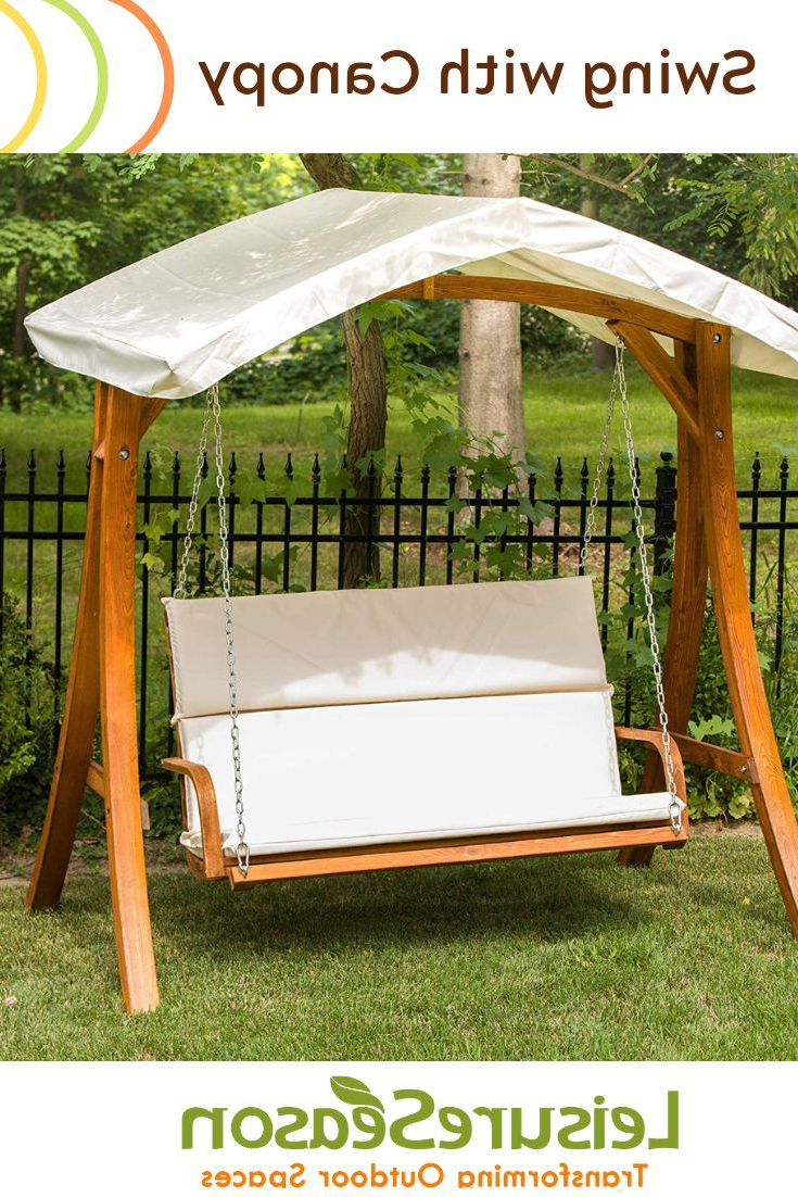 Enjoy Your Backyard With This Couples 2 Seater Garden Swing For Trendy Patio Gazebo Porch Canopy Swings (View 3 of 30)