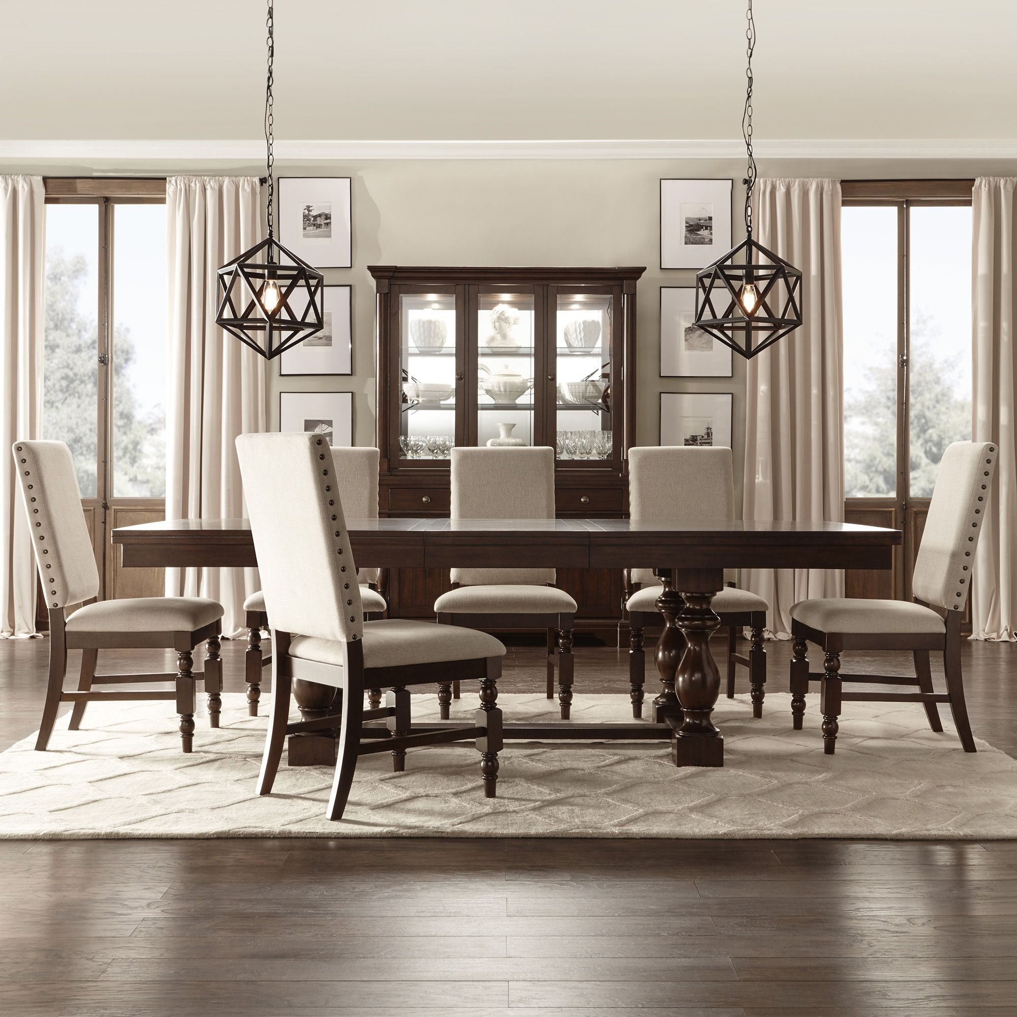 Espresso Finish Wood Classic Design Dining Tables Throughout Most Recent Flatiron Baluster Extending Dining Setinspire Q Classic (View 9 of 30)
