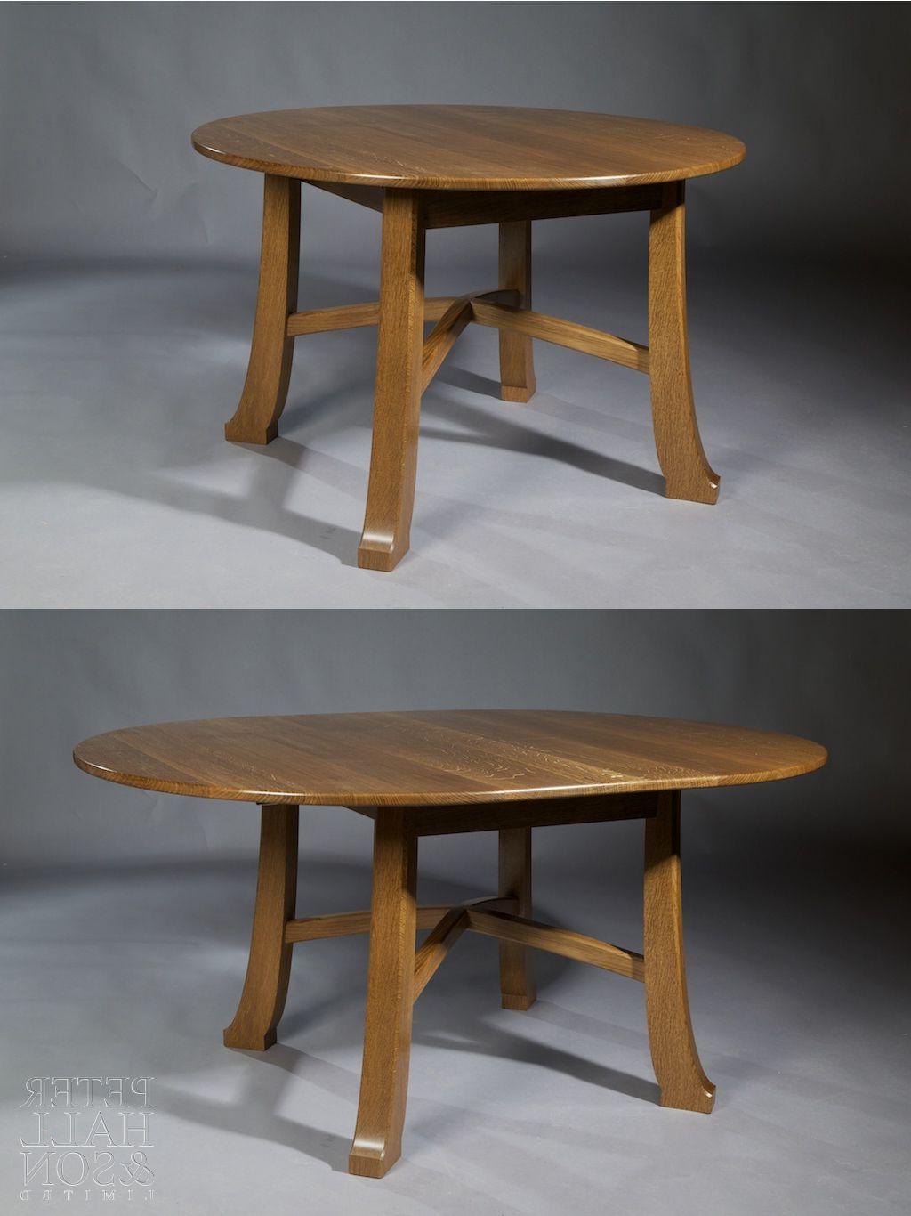 Extending 'pembroke' Table In Fumed Oak (View 11 of 30)