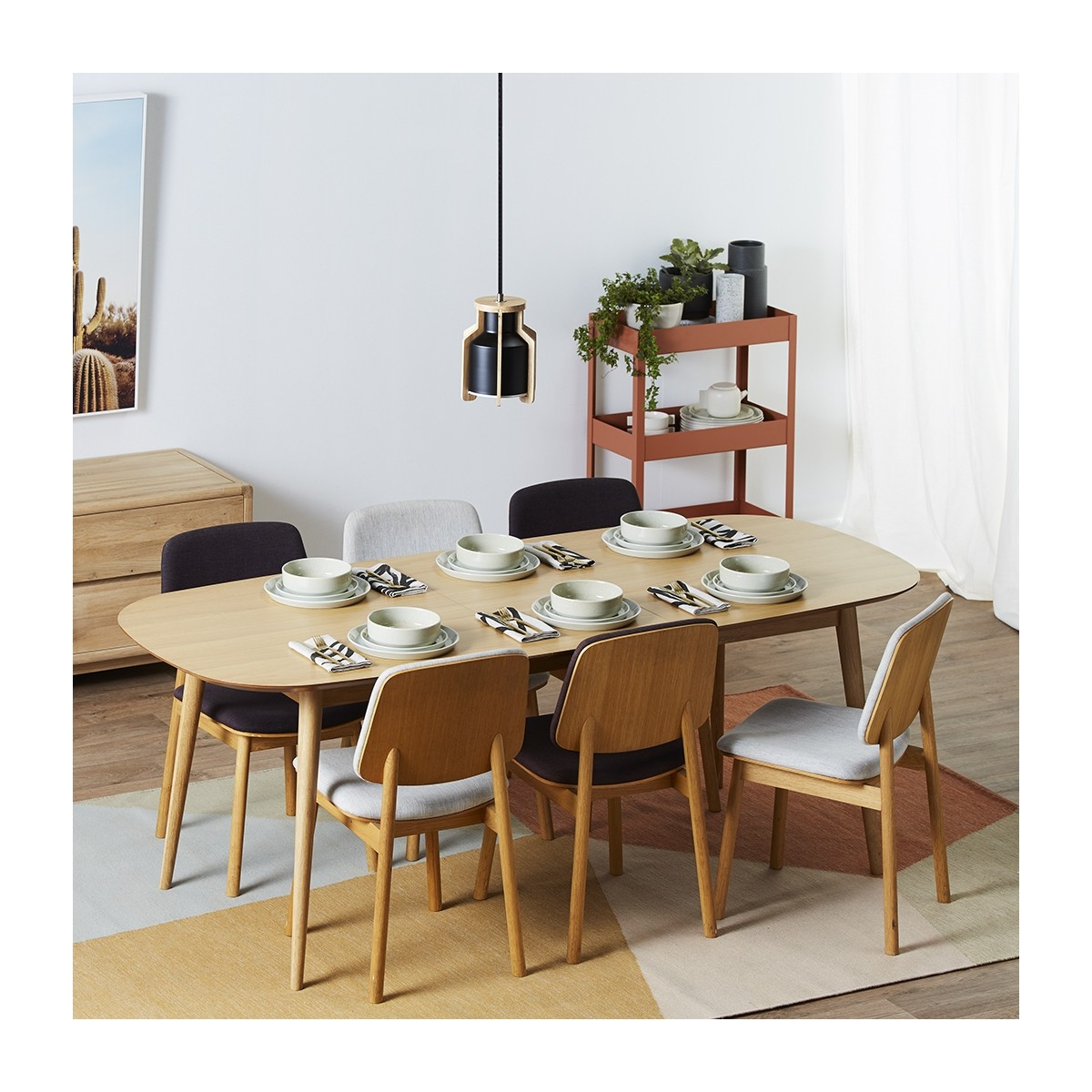 Extension Dining Tables With Fashionable Stockholm Extension Dining Table (oak) (View 3 of 30)