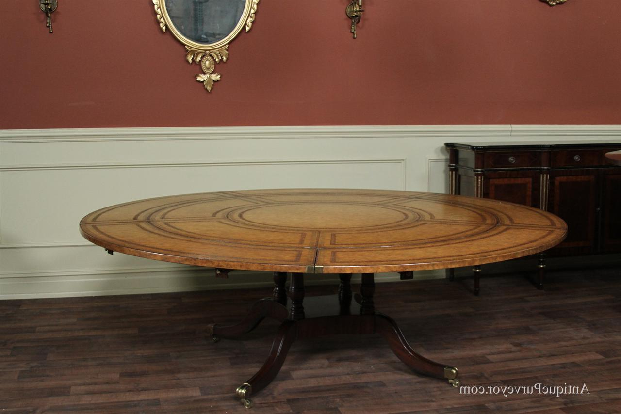 Famous 8 Seater Wood Contemporary Dining Tables With Extension Leaf Throughout Contemporary Large Round Dining Table Seat 10 Maitland Smith (View 3 of 30)